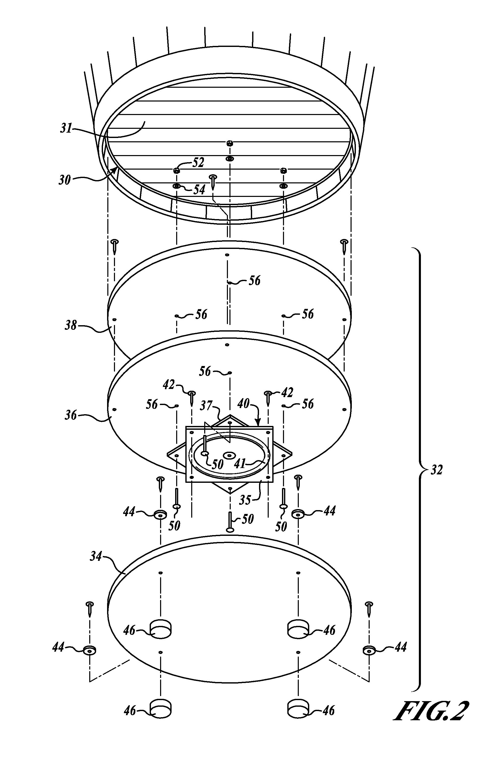 lazy susan bearing mechanism. patent drawing lazy susan bearing mechanism