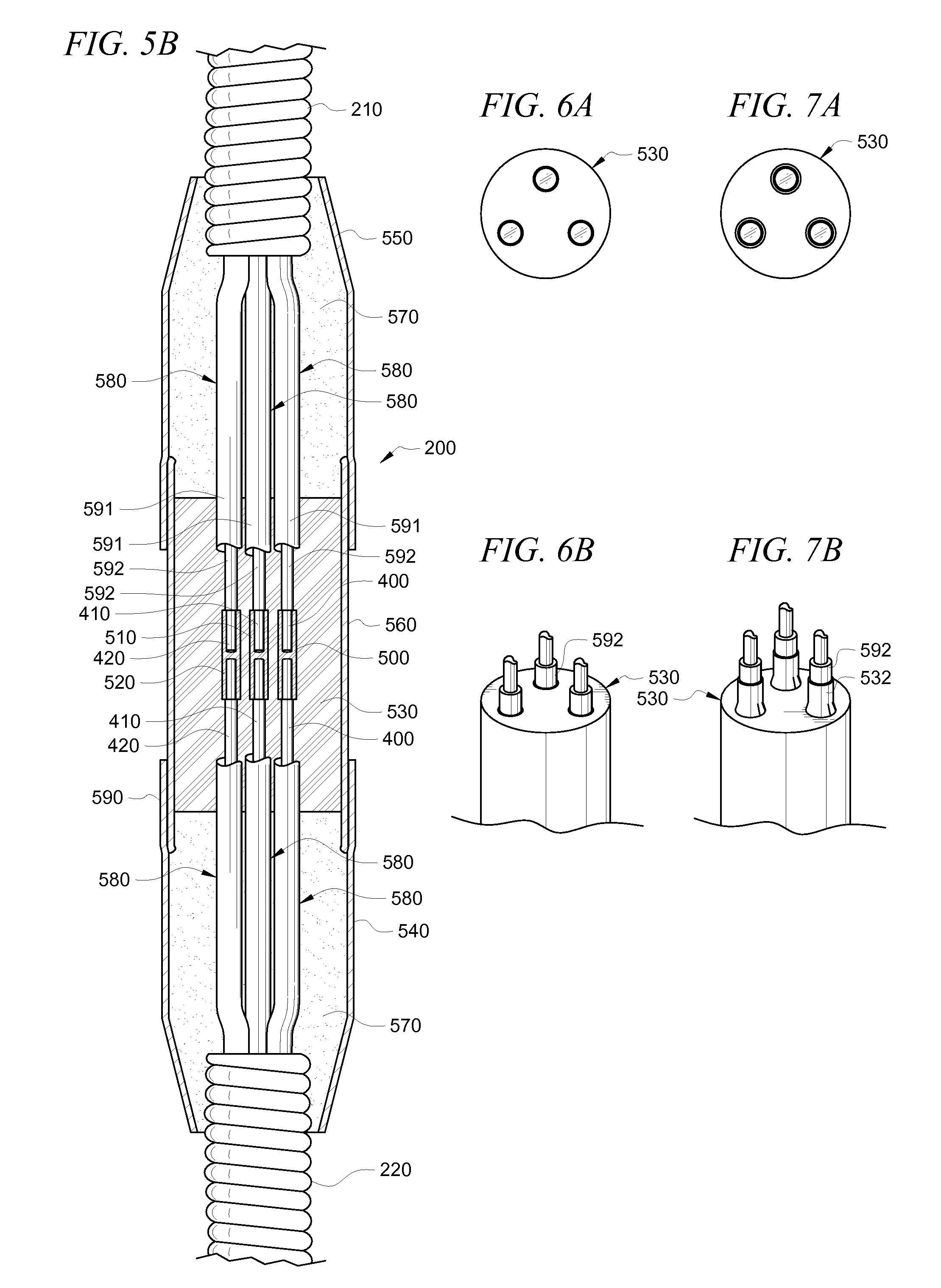 patent us7405358 - splice for down hole electrical submersible pump cable