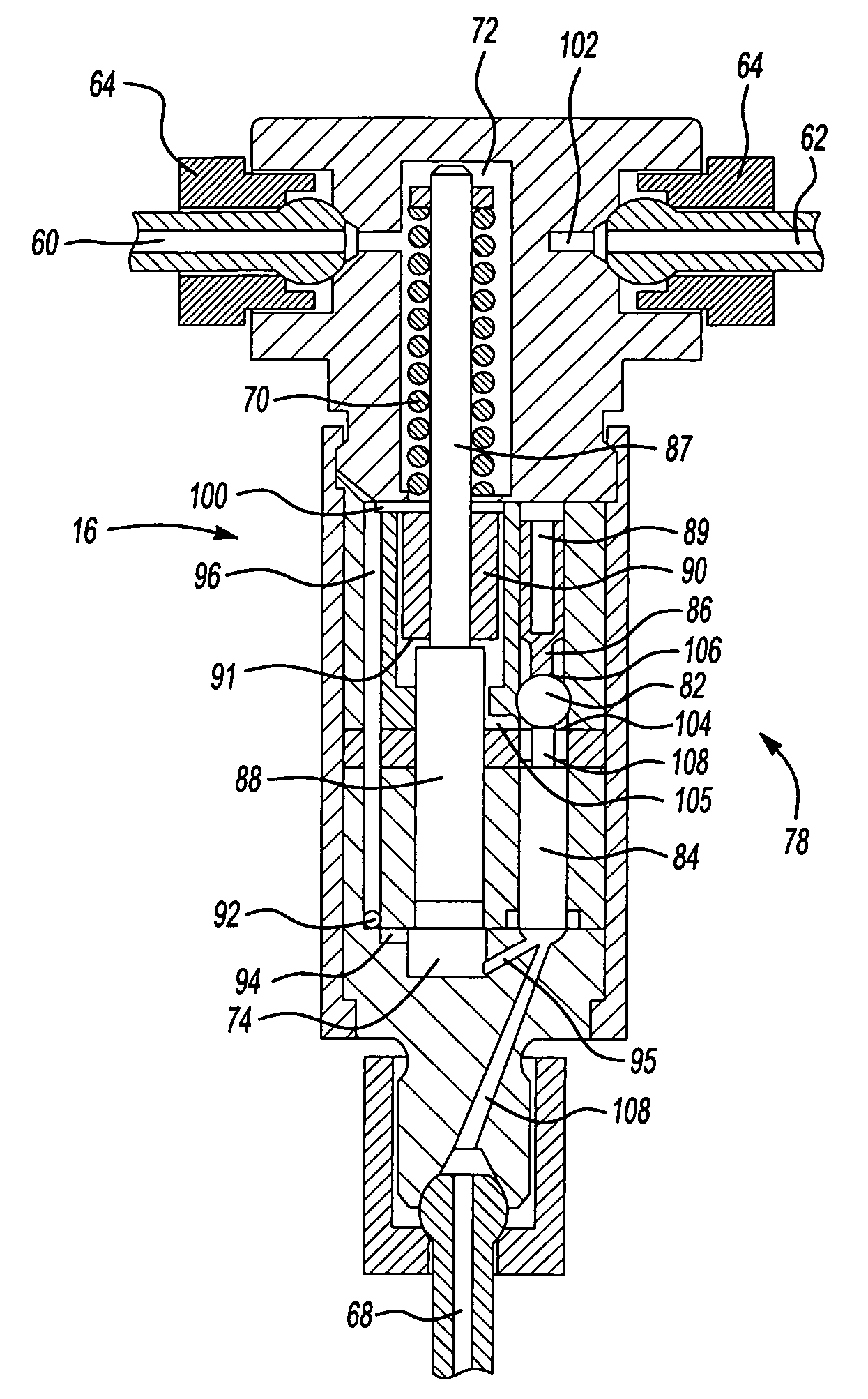 patent us7406945 - common rail system with pressure amplification