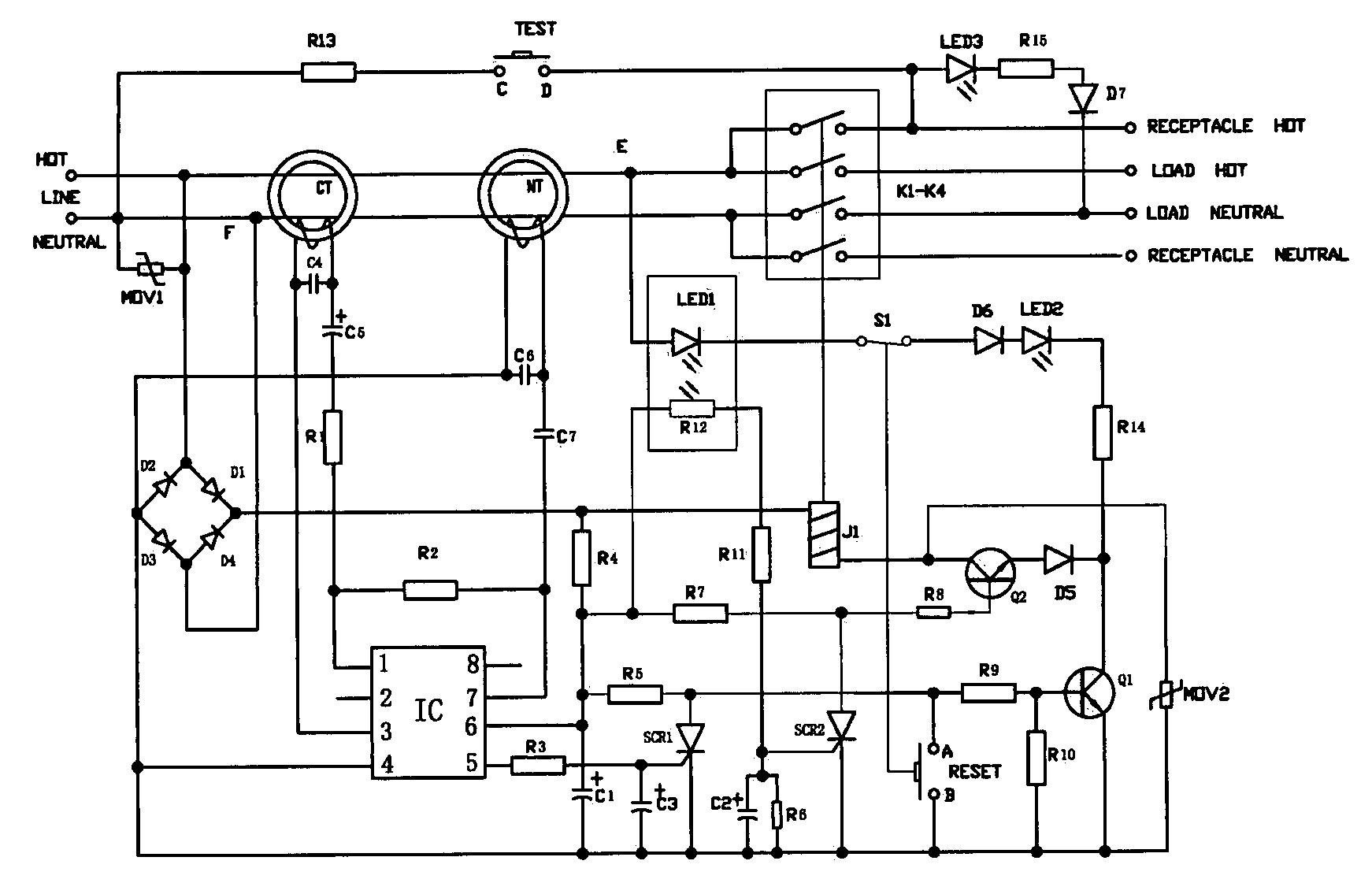 patent us7408432 receptacle type ground fault circuit interrupter rh google com pg