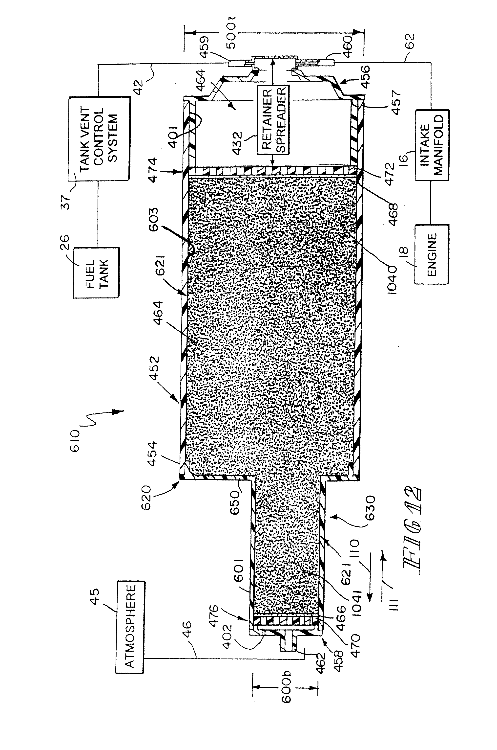 patent us7409946 - fuel vapor recovery canister