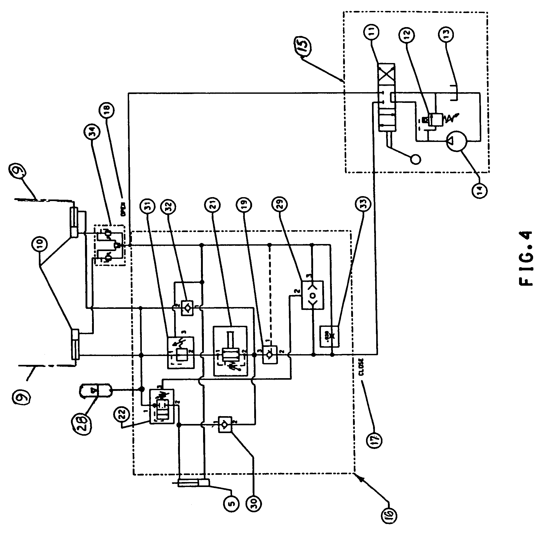 patent us7412919 hydraulic force control system for clamping patent drawing