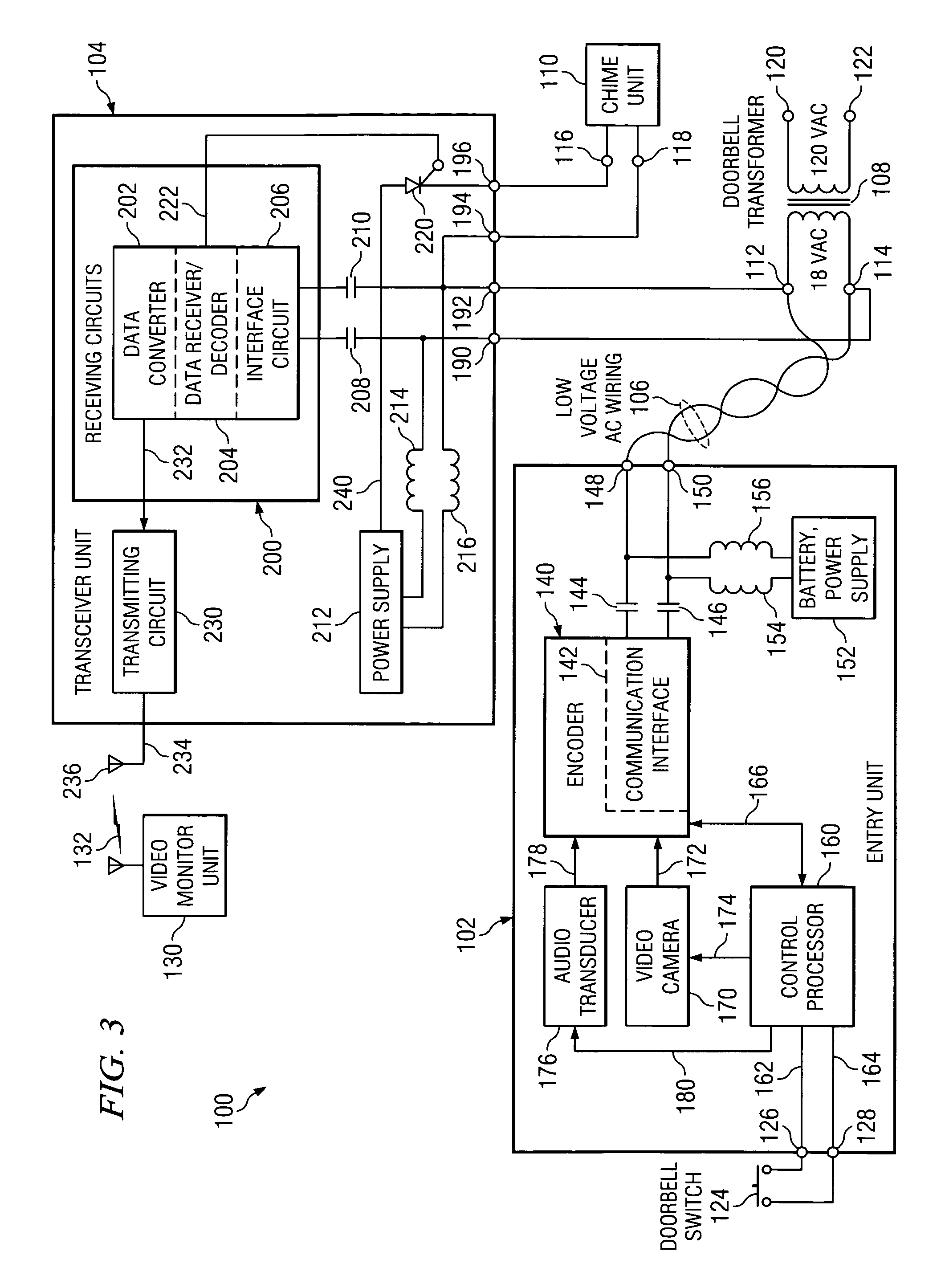 wiring diagram for wiring a doorbell camera wiring diagram for patent us7417535 apparatus and method for converting a low