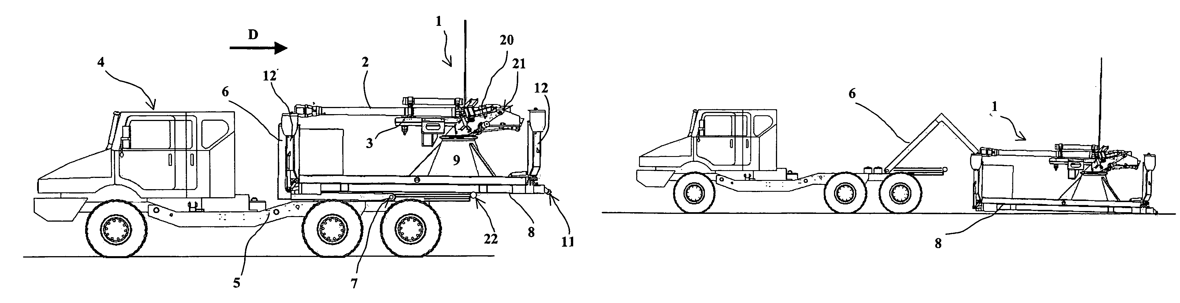 patent us7418897 weapon system that can be carried by a truck
