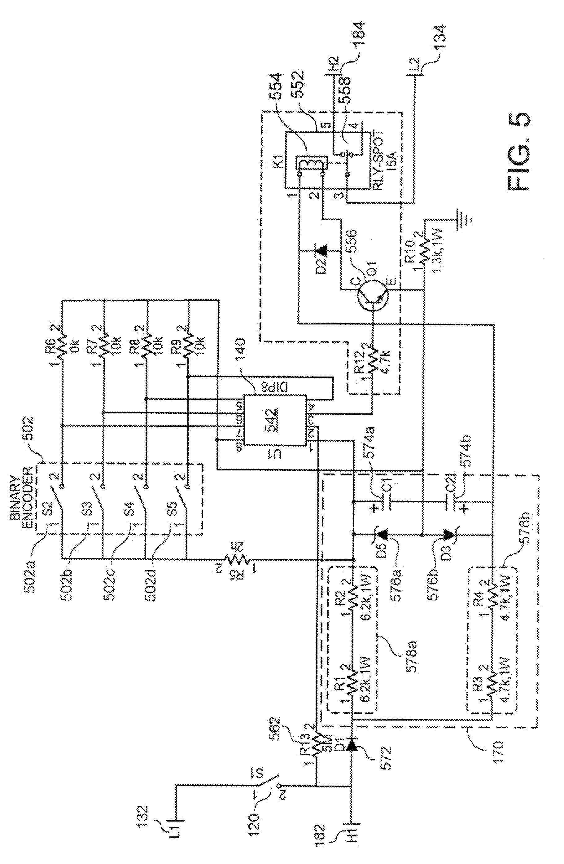 US07420142 20080902 D00010 patent us7420142 power control module for electrical appliances robertshaw infinite switch wiring diagram at webbmarketing.co