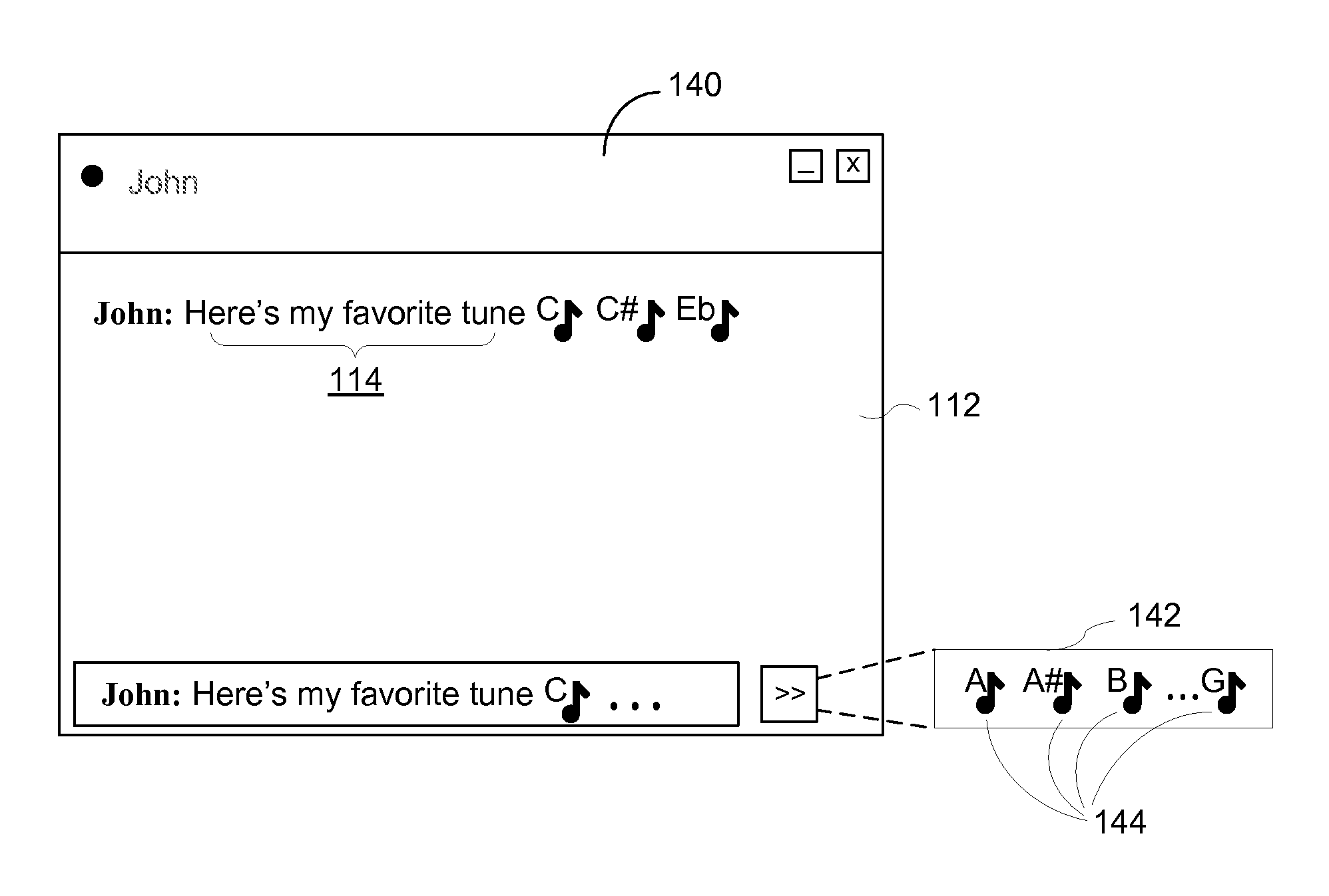 Lotus Notes Emoticons Patent Us7424682 Electronic Messages With Embedded Musical Note