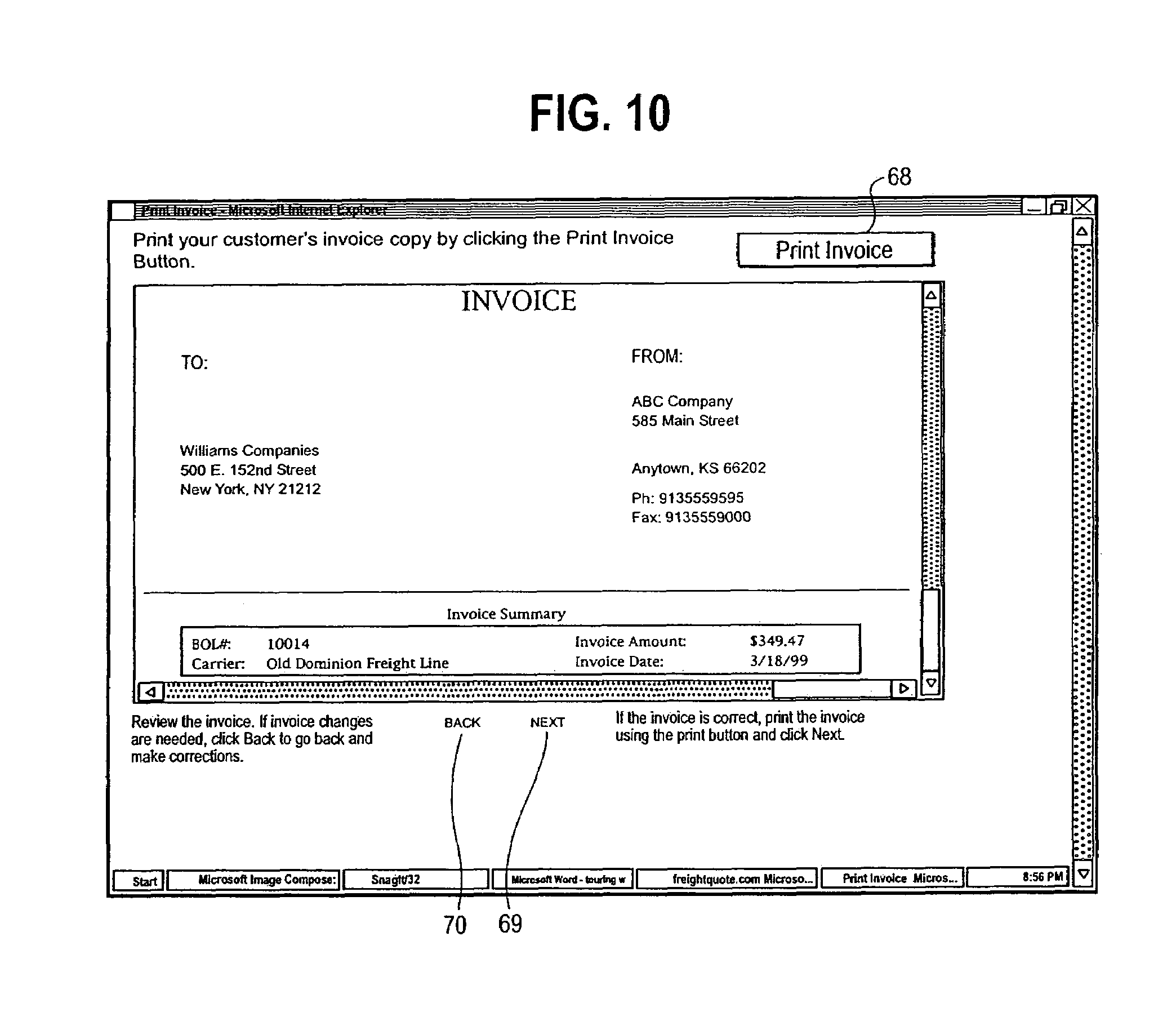Free Billing Invoice Template Patent Us  System And Method For Marketing Over Computer  Dhl Commercial Invoice Pdf with Downloadable Receipts Patent Drawing Business Invoice Sample Pdf