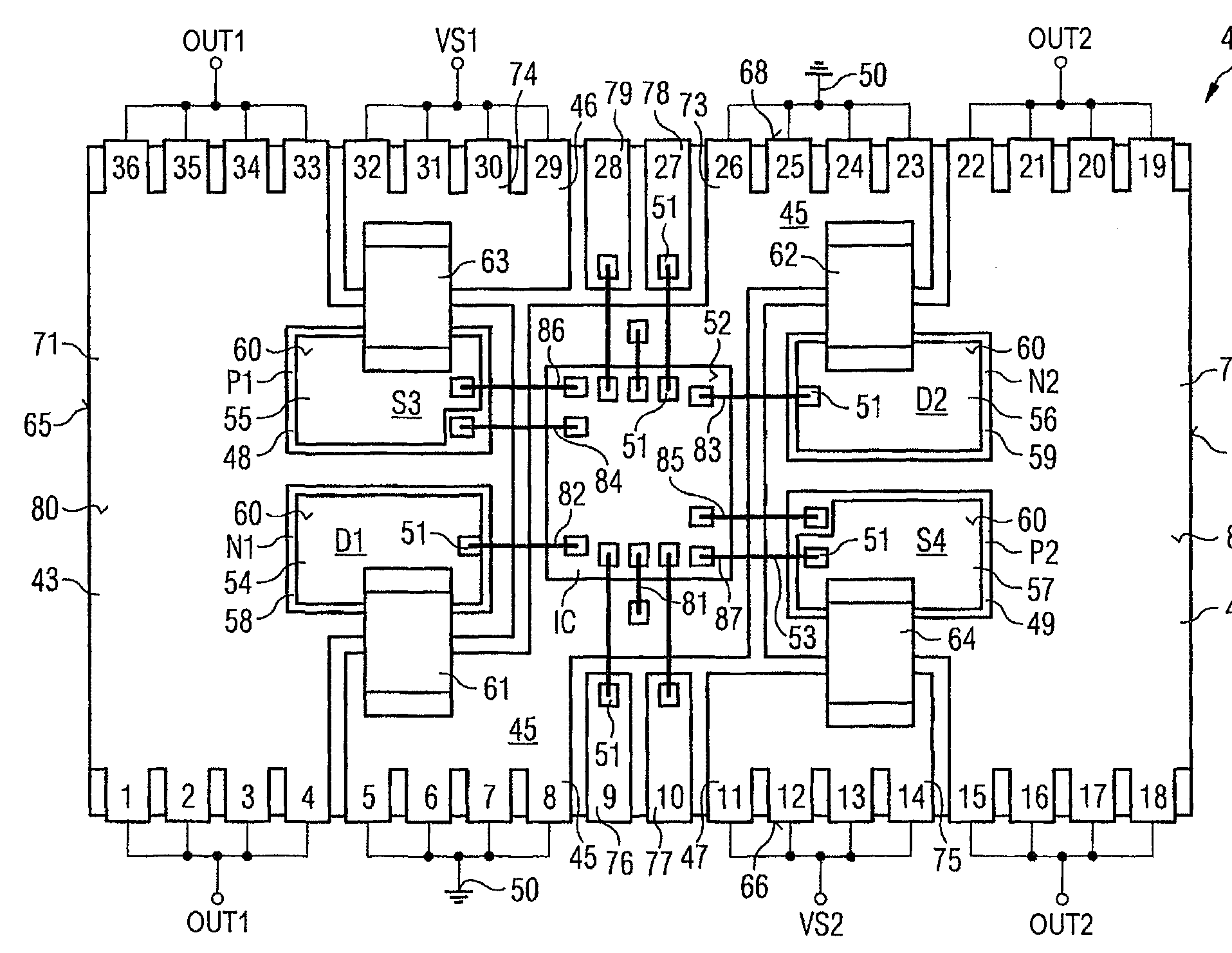 Patent Us7449778 Power Semiconductor Module As H Bridge Circuit Diagram Drawing