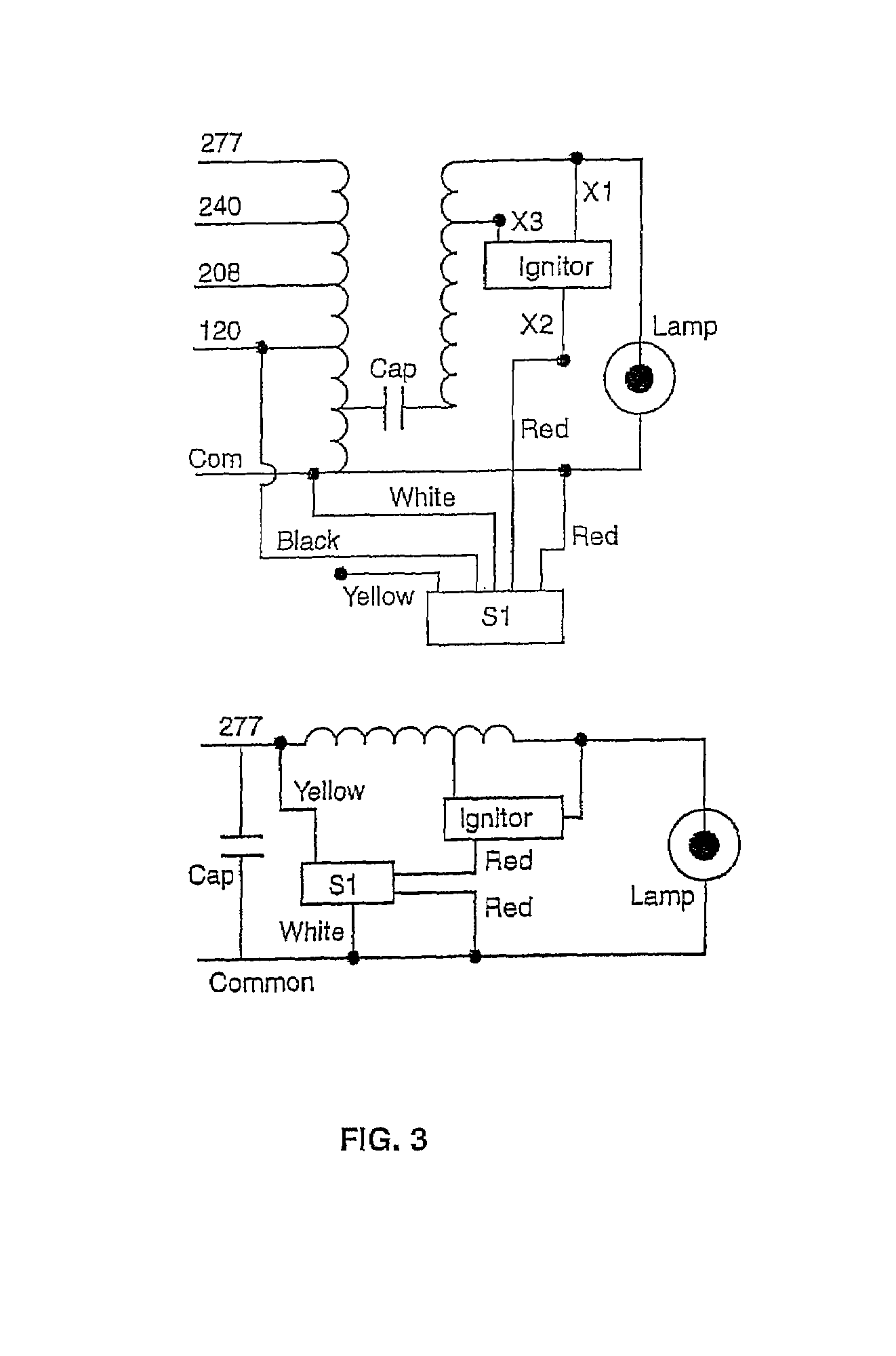 US07449840 20081111 D00003 patent us7449840 ignitor turn off switch for hid ballasts hid capacitor wiring diagram at gsmx.co