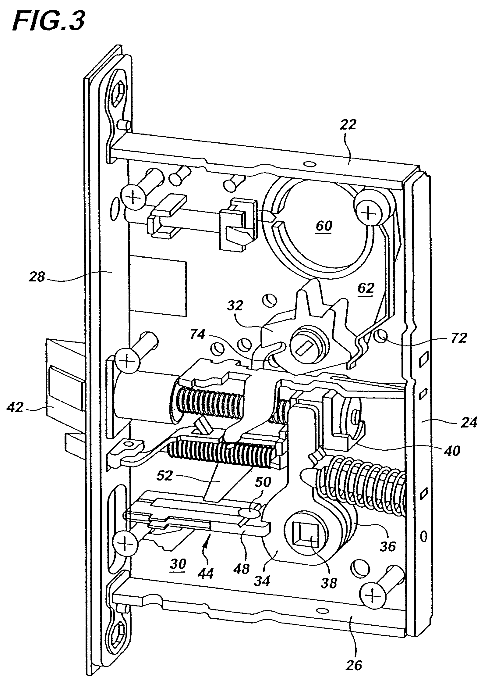 patent us7452012 - multi-functional mortise lock