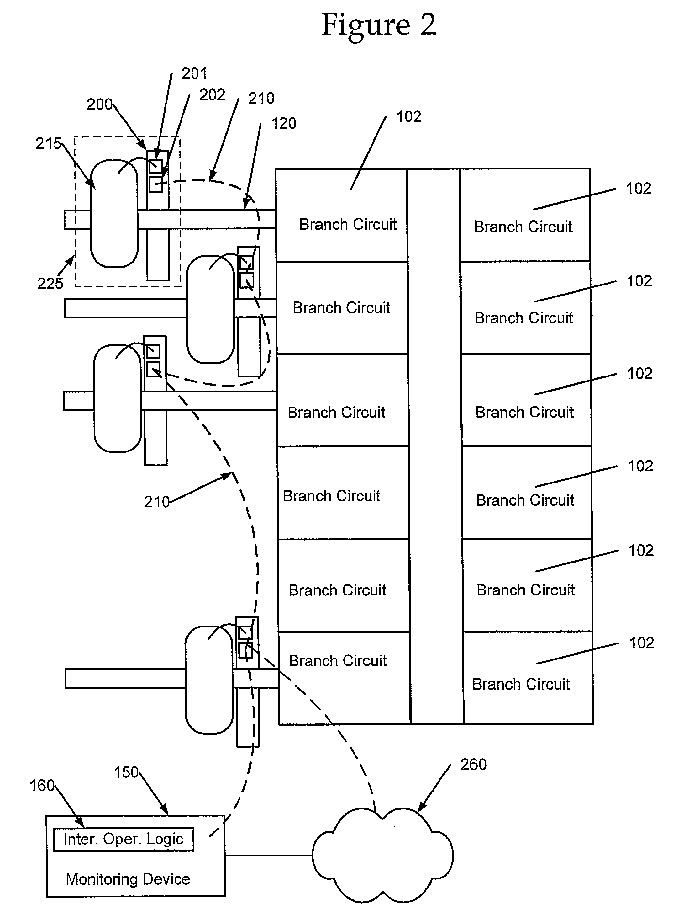 patent us7453267 - branch circuit monitor system