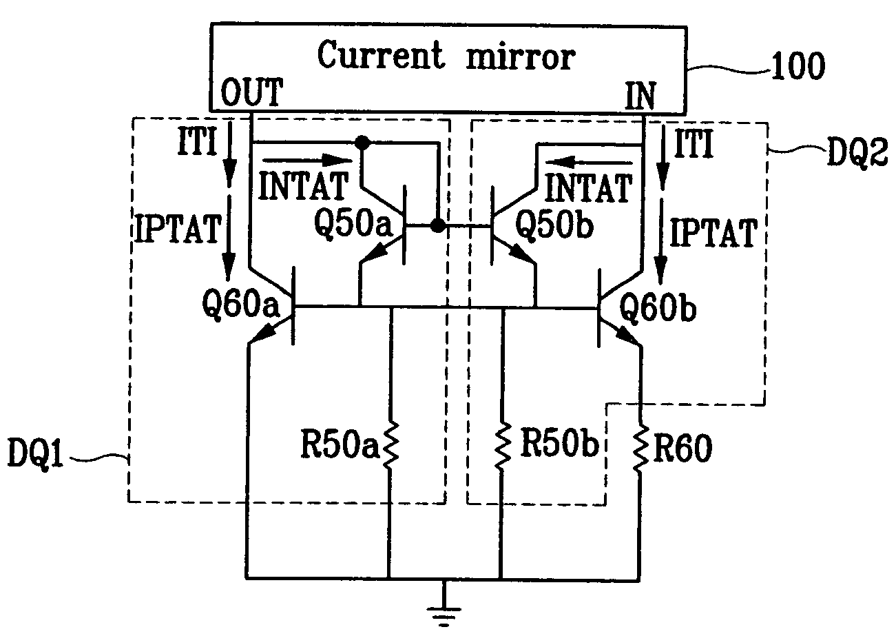 Brevet Us7453314 Temperature Independent Current Source Circuit Diagram Currents In The Darlington Pair Patent Drawing