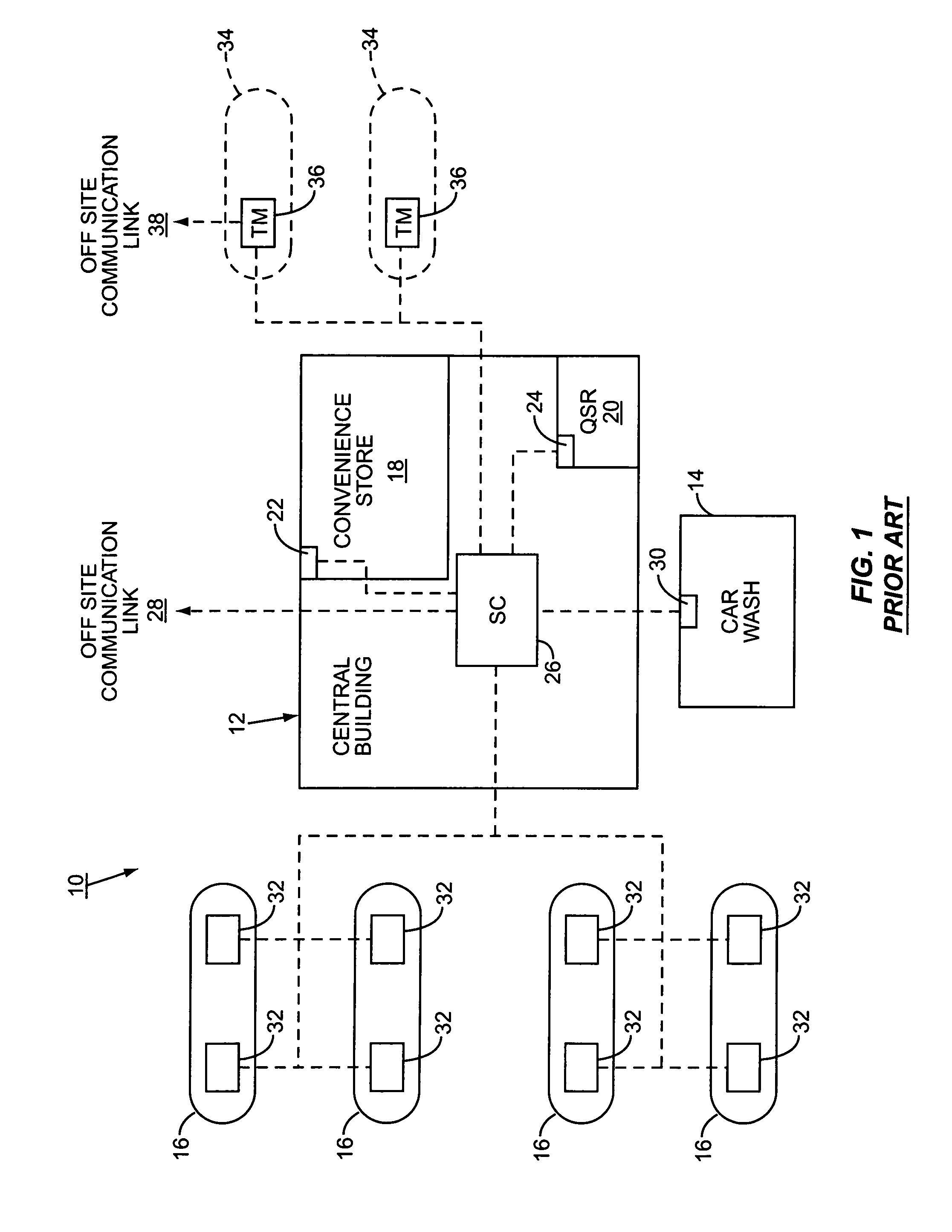 patent us7455194 - service station leak detection and recovery system