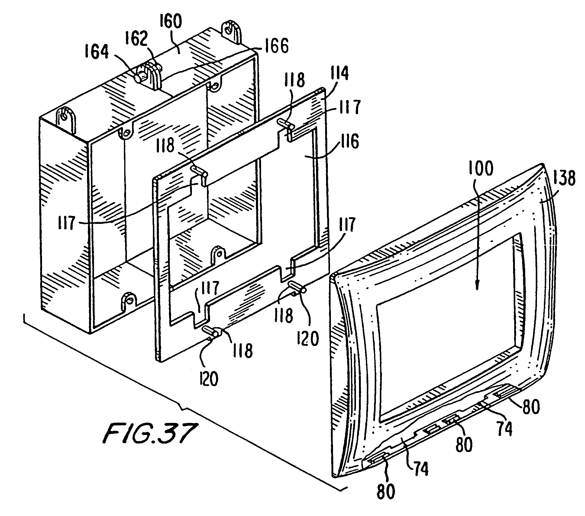 patente us7456360 - electrical receptacle assembly having a clip