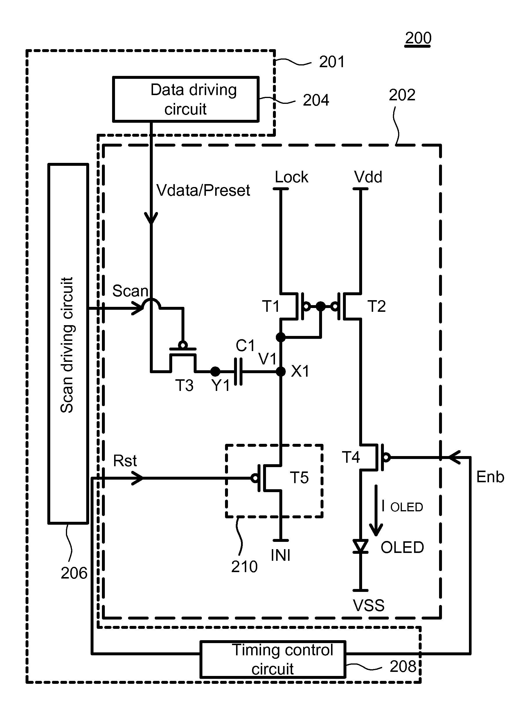 Patent Us7459859 Organic Light Emitting Display Having Diode Electrical Circuits Drawing