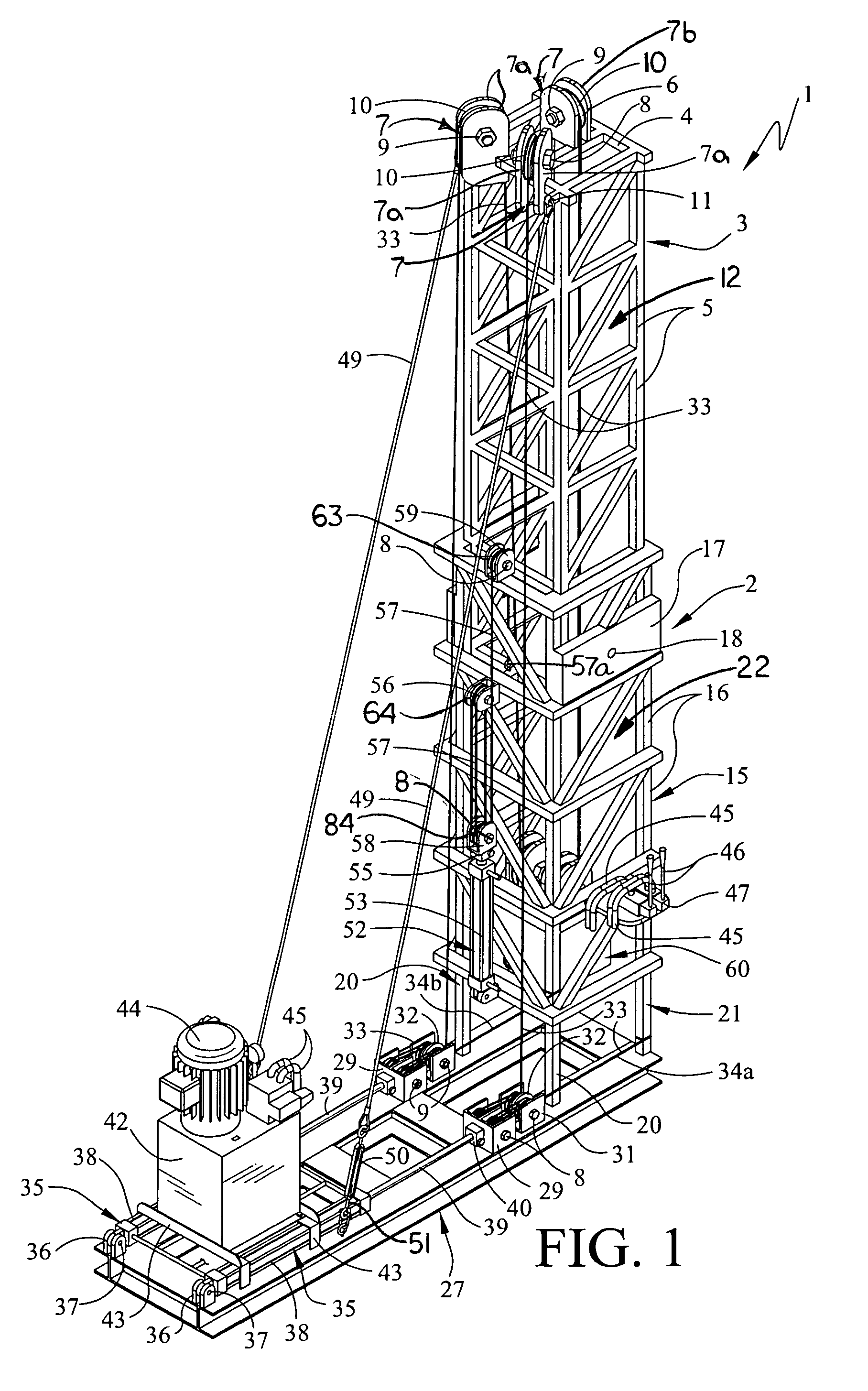 patent us7461831 - telescoping workover rig