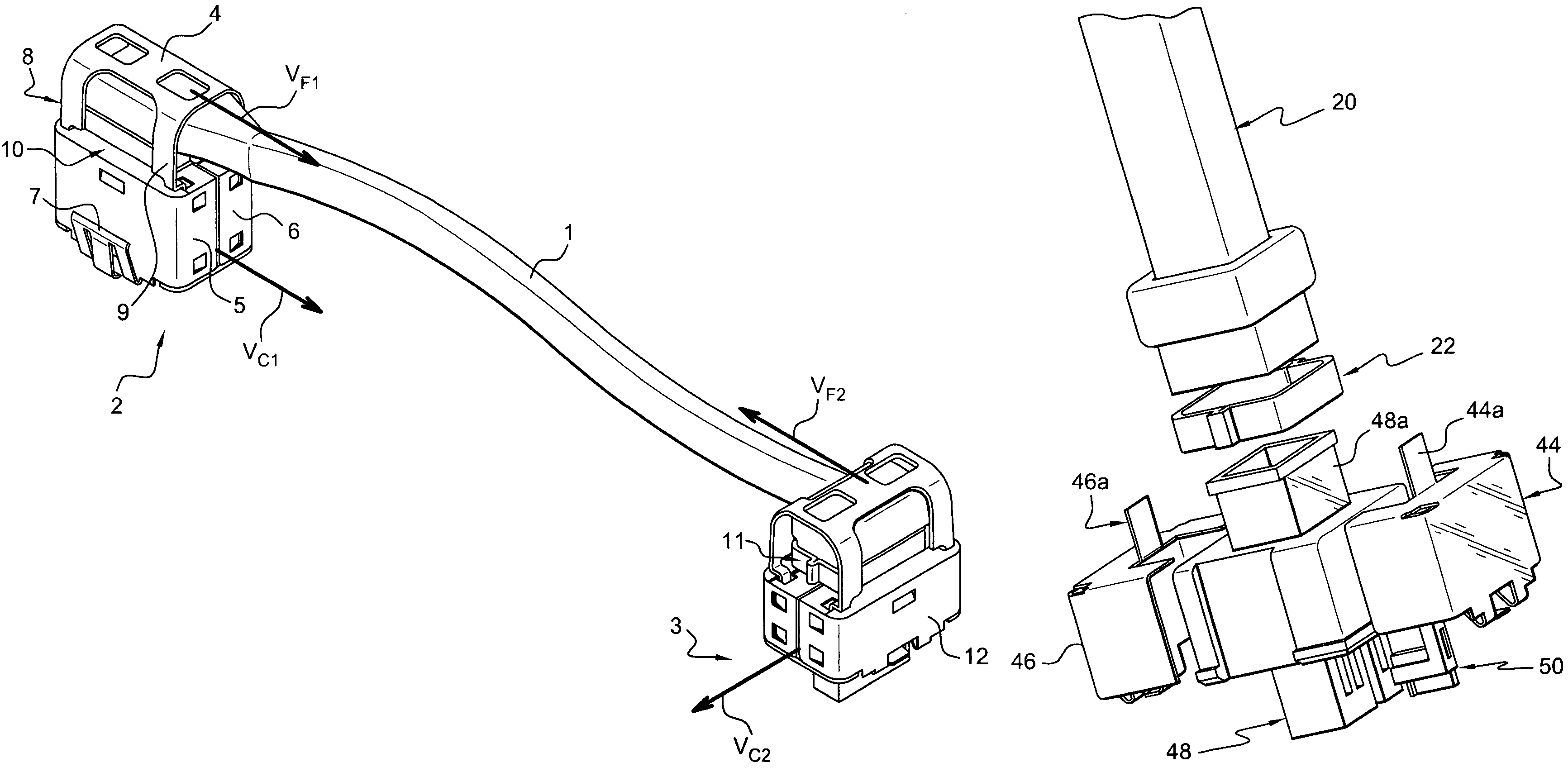 patent us7465196 - wiring harness end connector