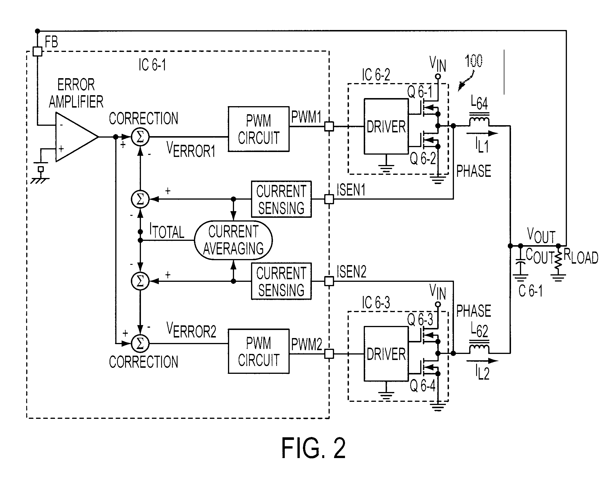 Patent Us7466116 Current Sensing Circuit For A Multi Phase Dc Pwm Amplifier Drawing