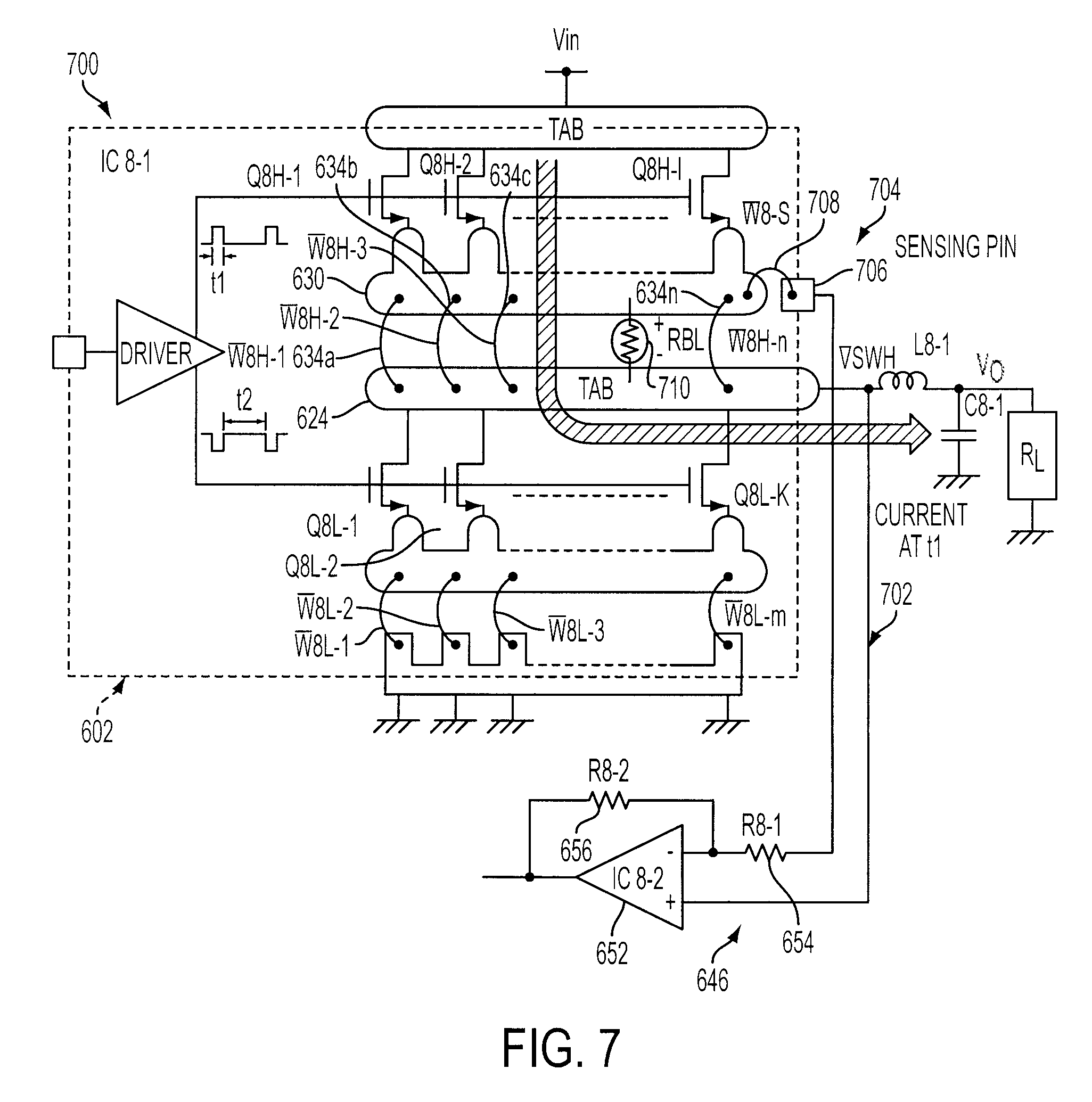 Patent Us7466116 Current Sensing Circuit For A Multi Phase Dc 2008 Toyota Camry Engine Diagram Drawing