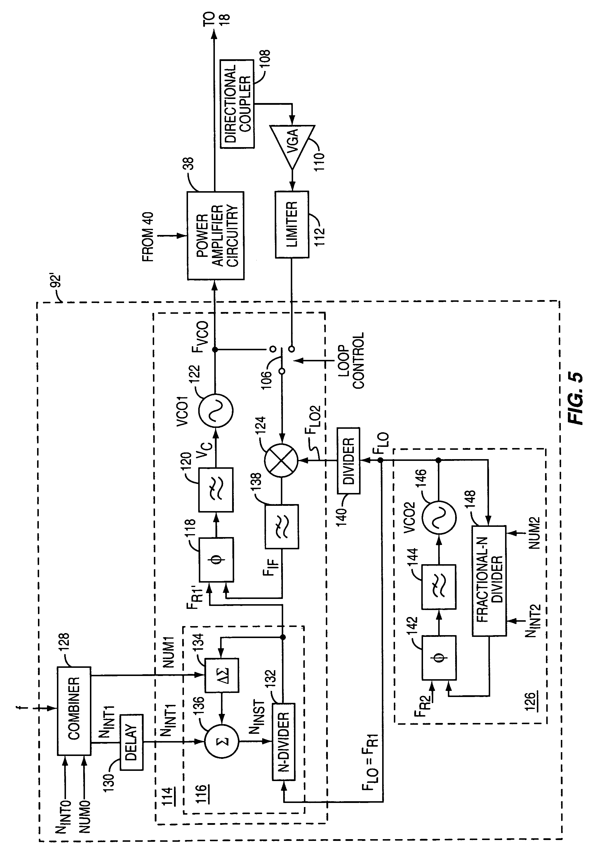 closed loop polar modulation system with open loop option at low