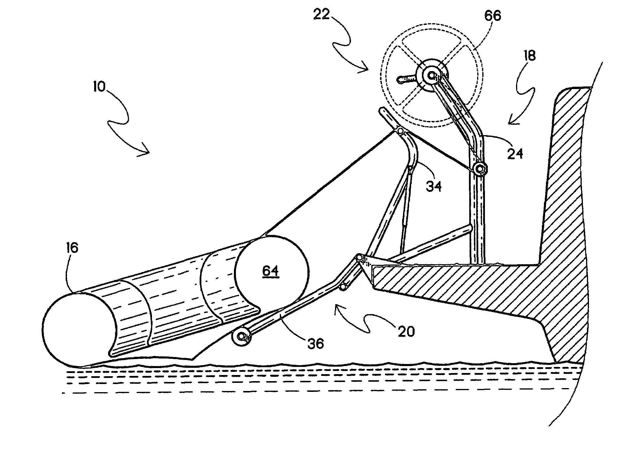 patent us7475649 - davit system for small boats