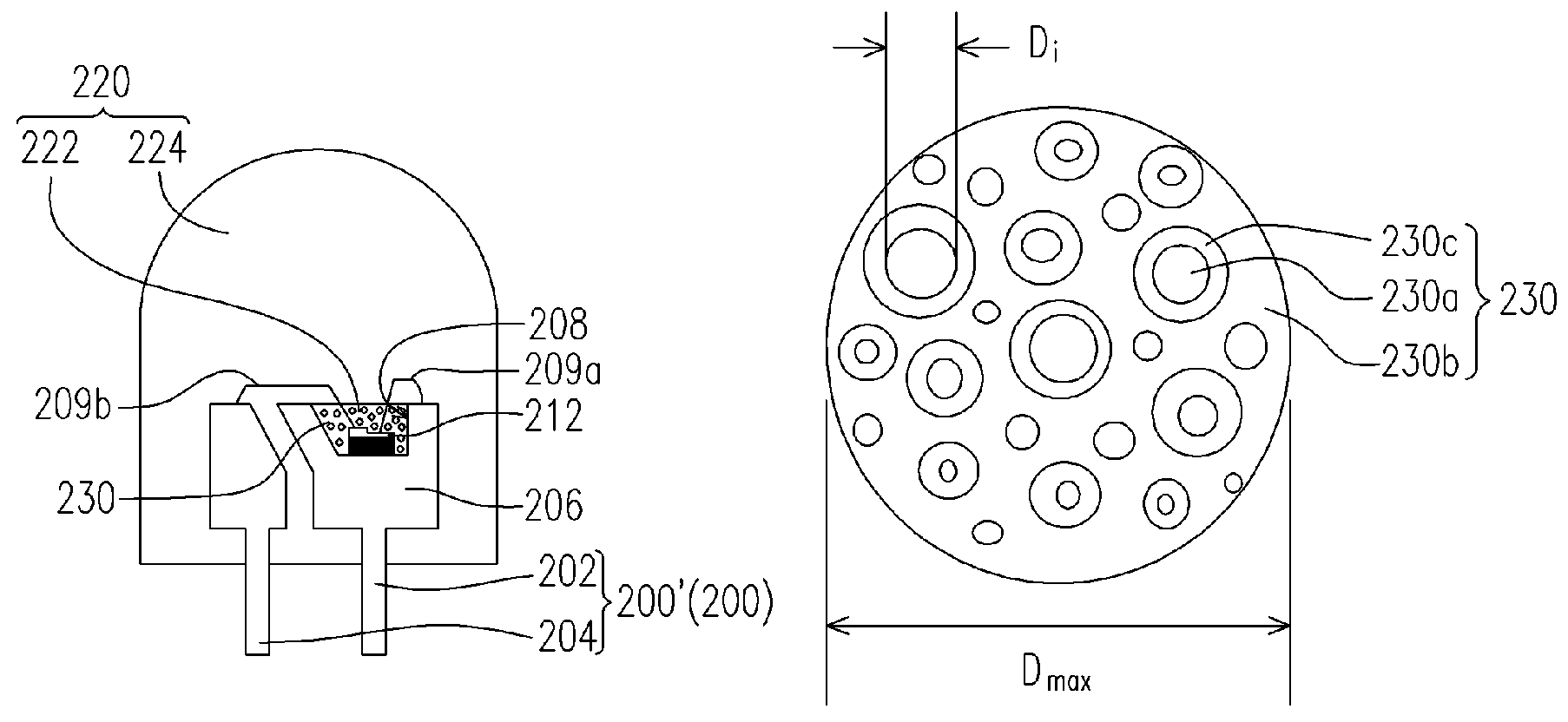 Patent Us7479733 Light Emitting Diode Package Structure Cold 3m Led Advanced Bulb Diagram Drawing