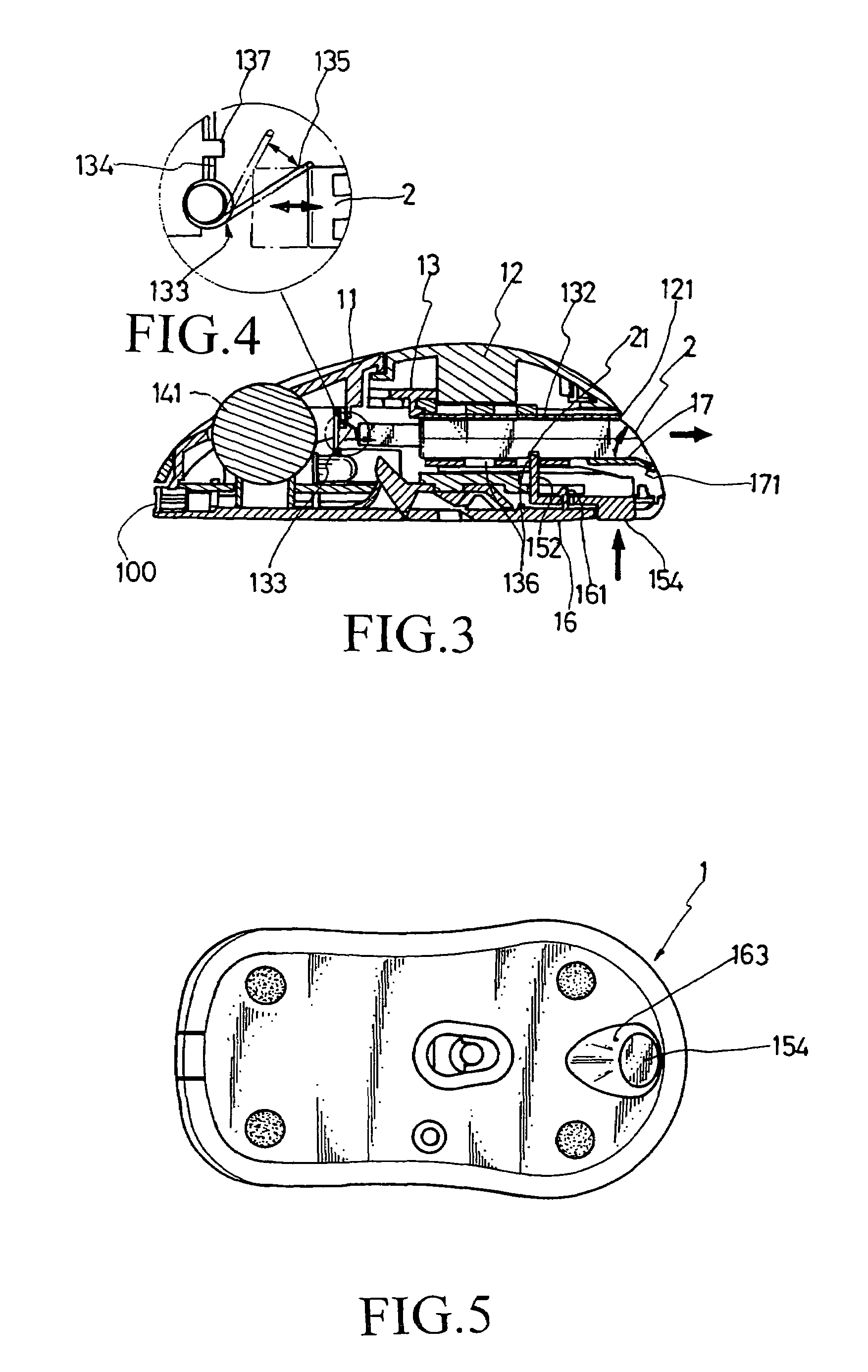 patent us7479945 wireless mouse having receiver receptacle patent drawing