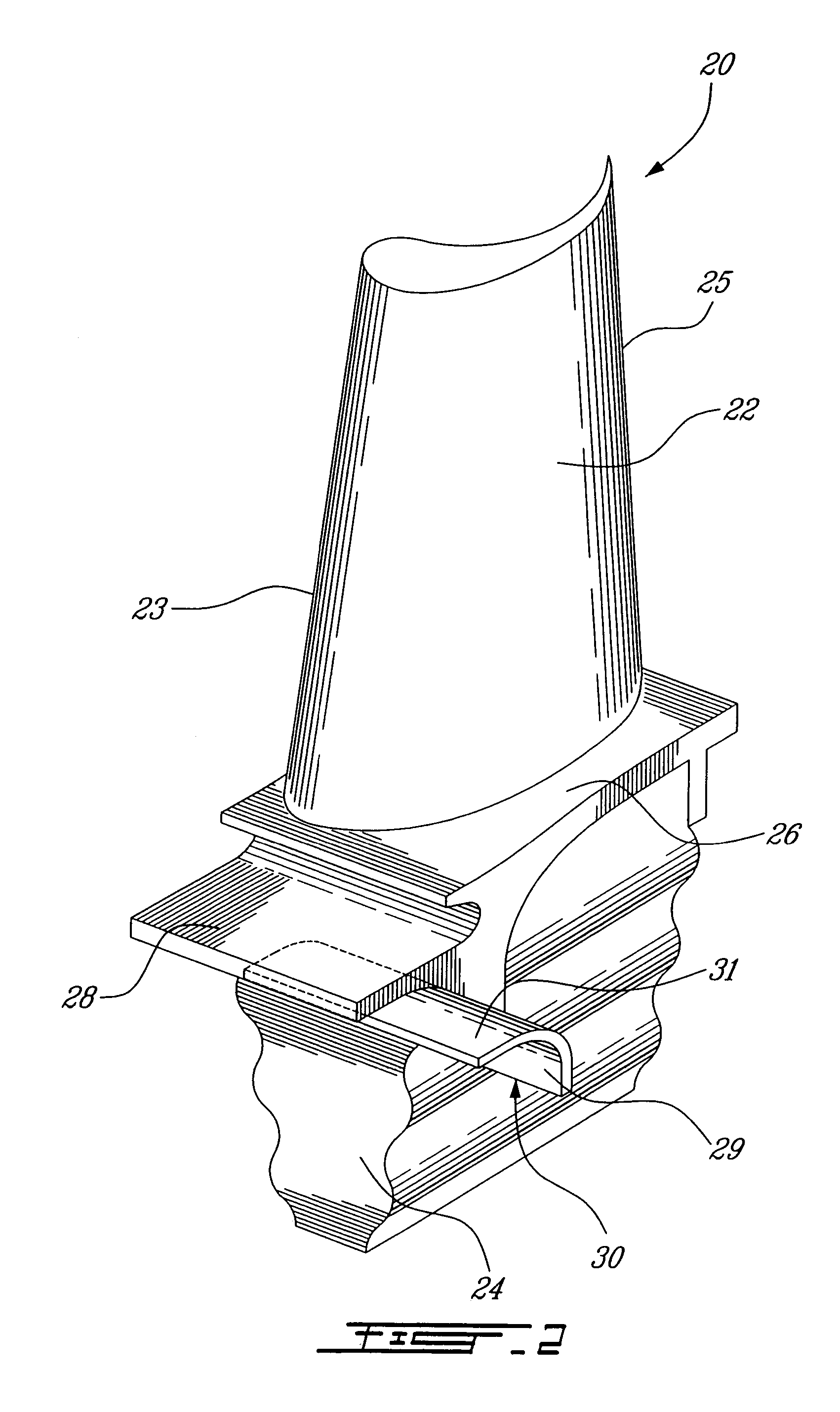Patent US Blades for a gas turbine engine with integrated