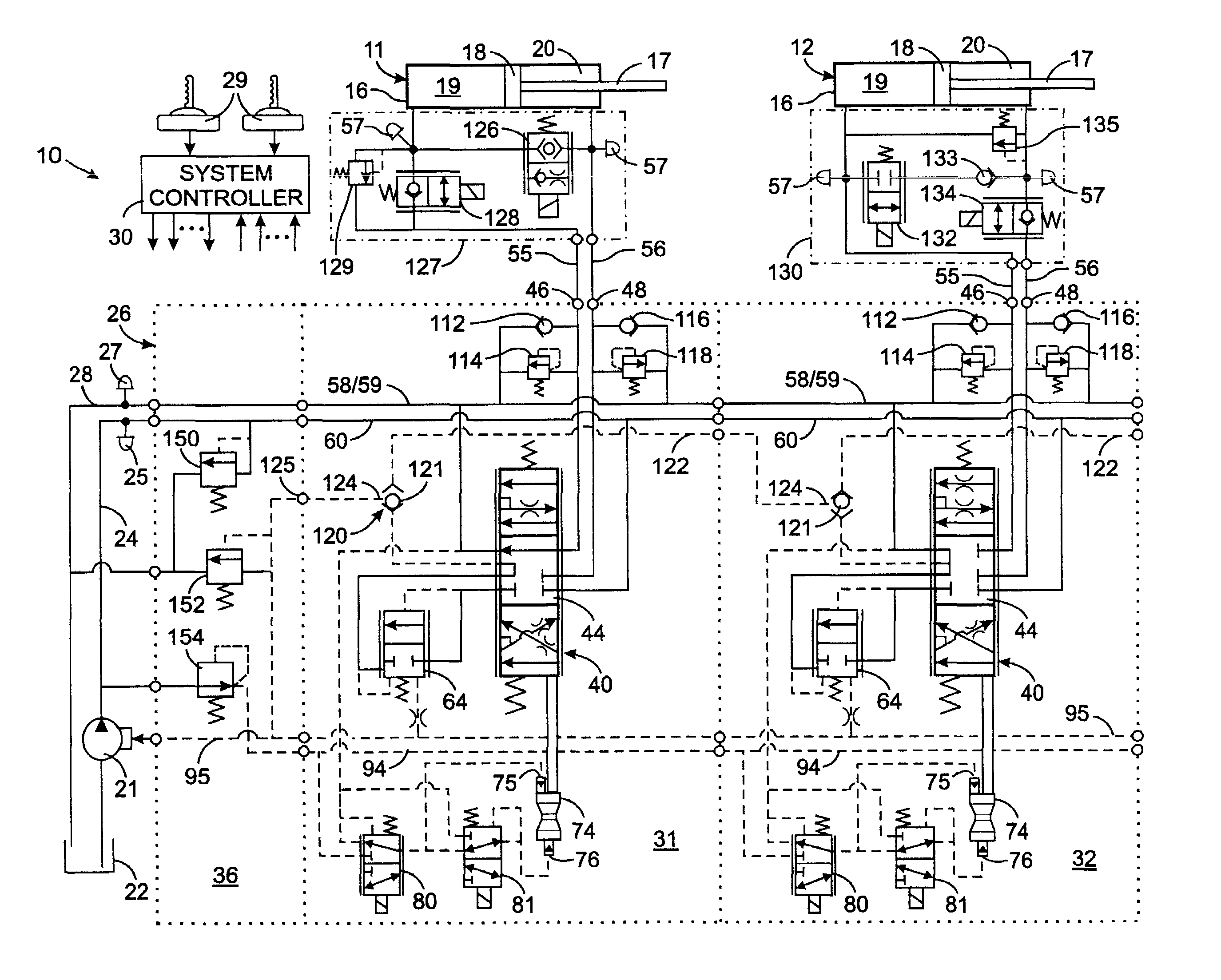 US07487707 20090210 D00000 patent us7487707 hydraulic valve assembly with a pressure sauer danfoss joystick wiring diagram at cos-gaming.co