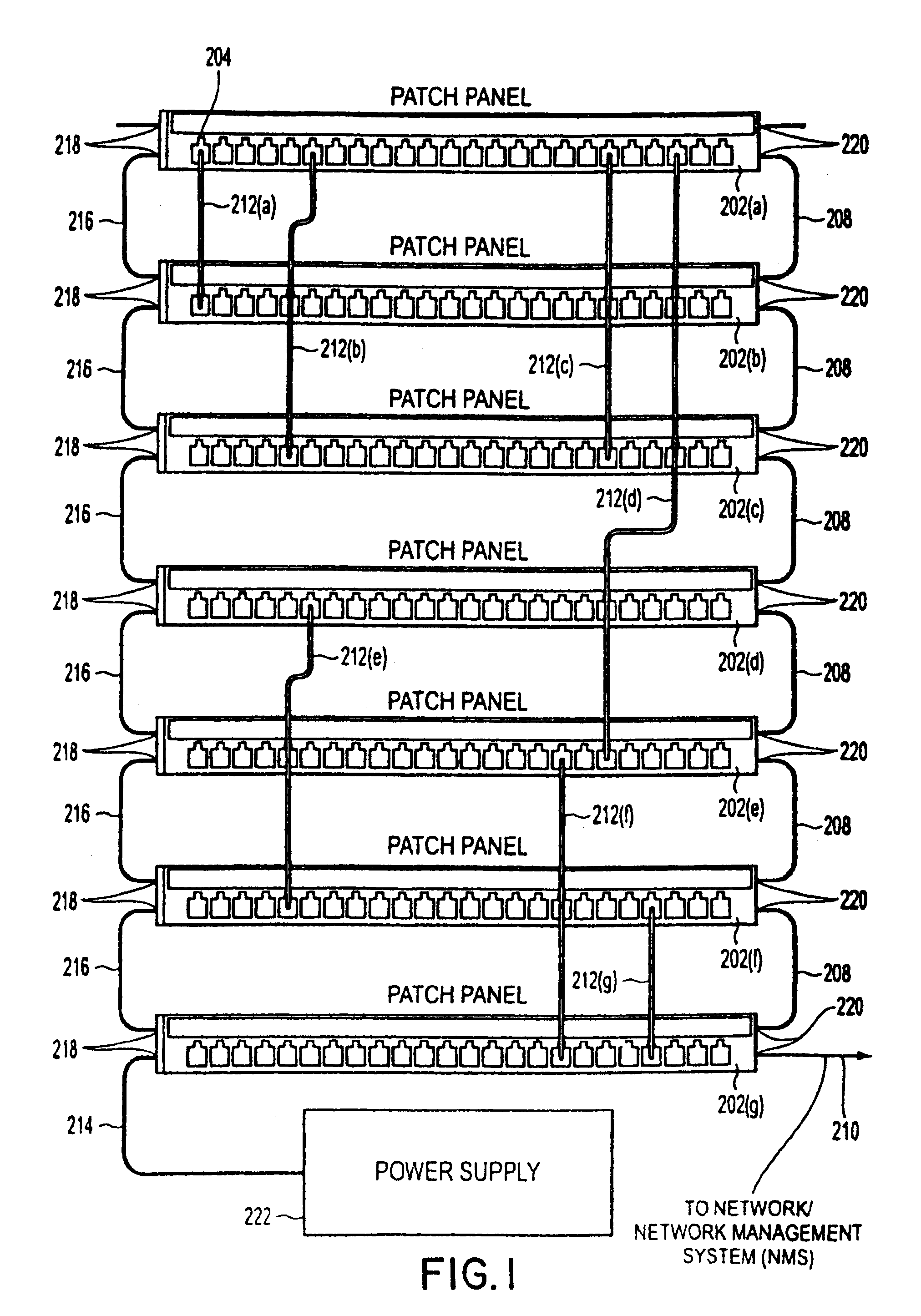 US07488206 20090210 D00001 patent us7488206 method and apparatus for patch panel patch cord kone wiring diagram at gsmx.co