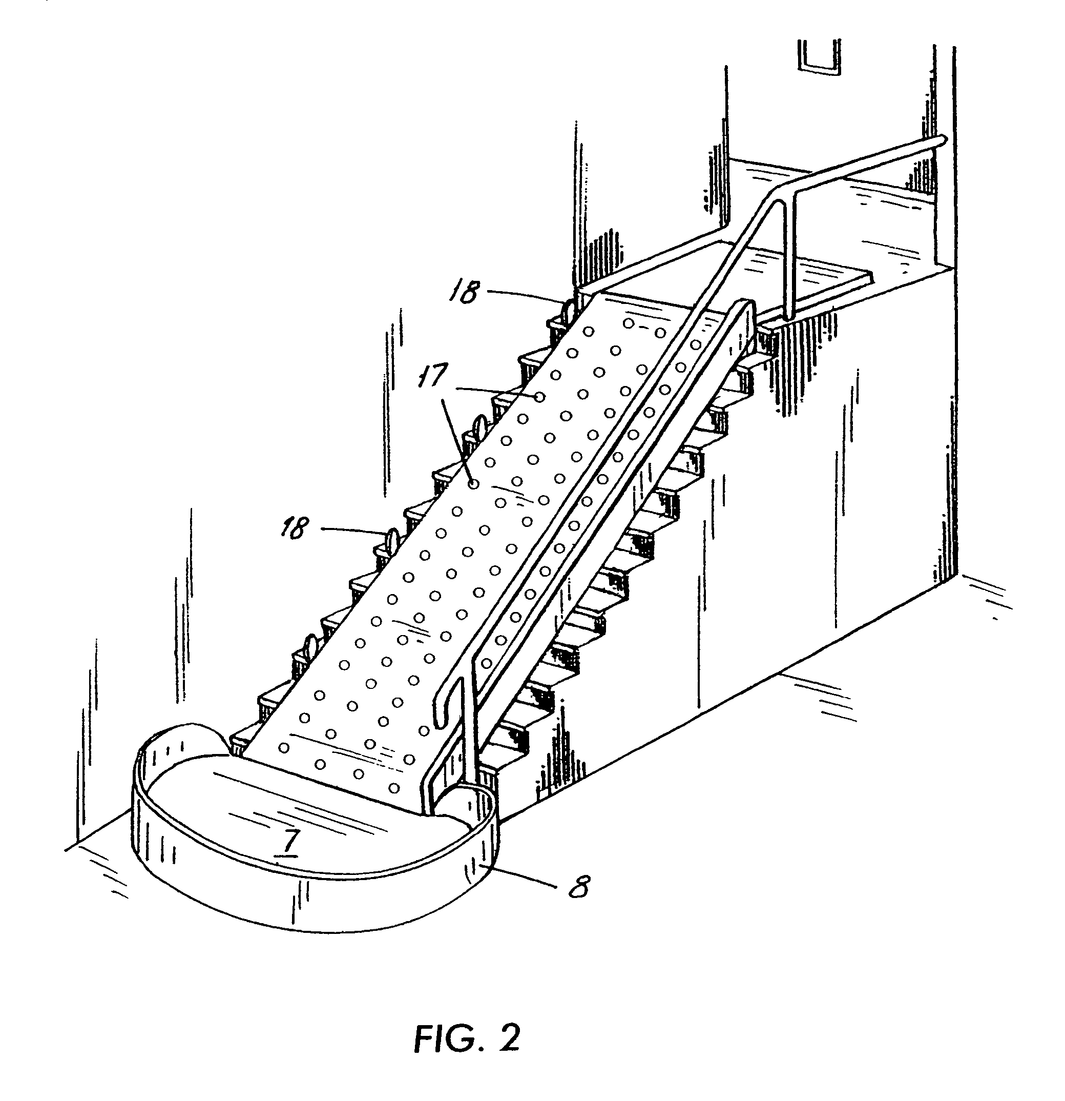 Folding Staircase Patent Us7494419 Indoor Stair Slide For Transporting The