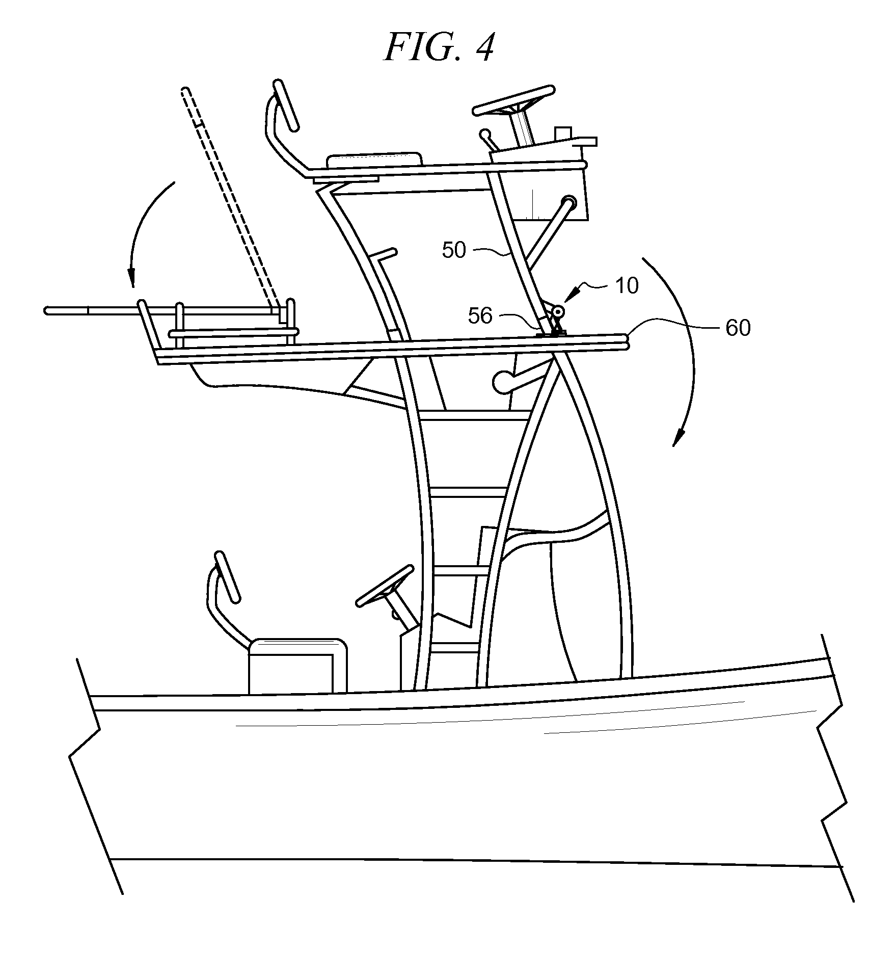patent us7497184 - load relief mechanism for fishing boat tower