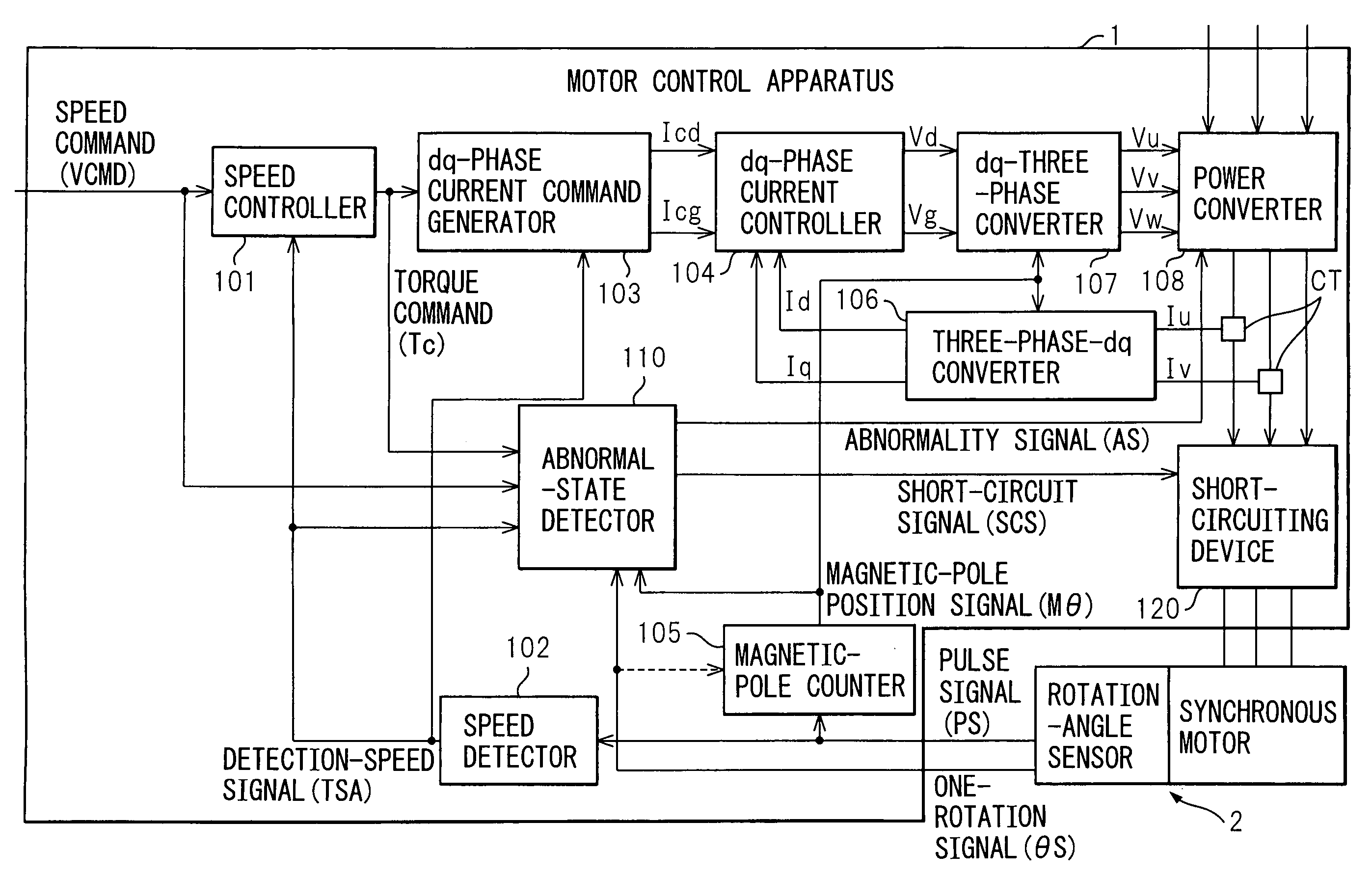 Patent Us7498761 Motor Control Method And Apparatus Short Circuit Detector Drawing