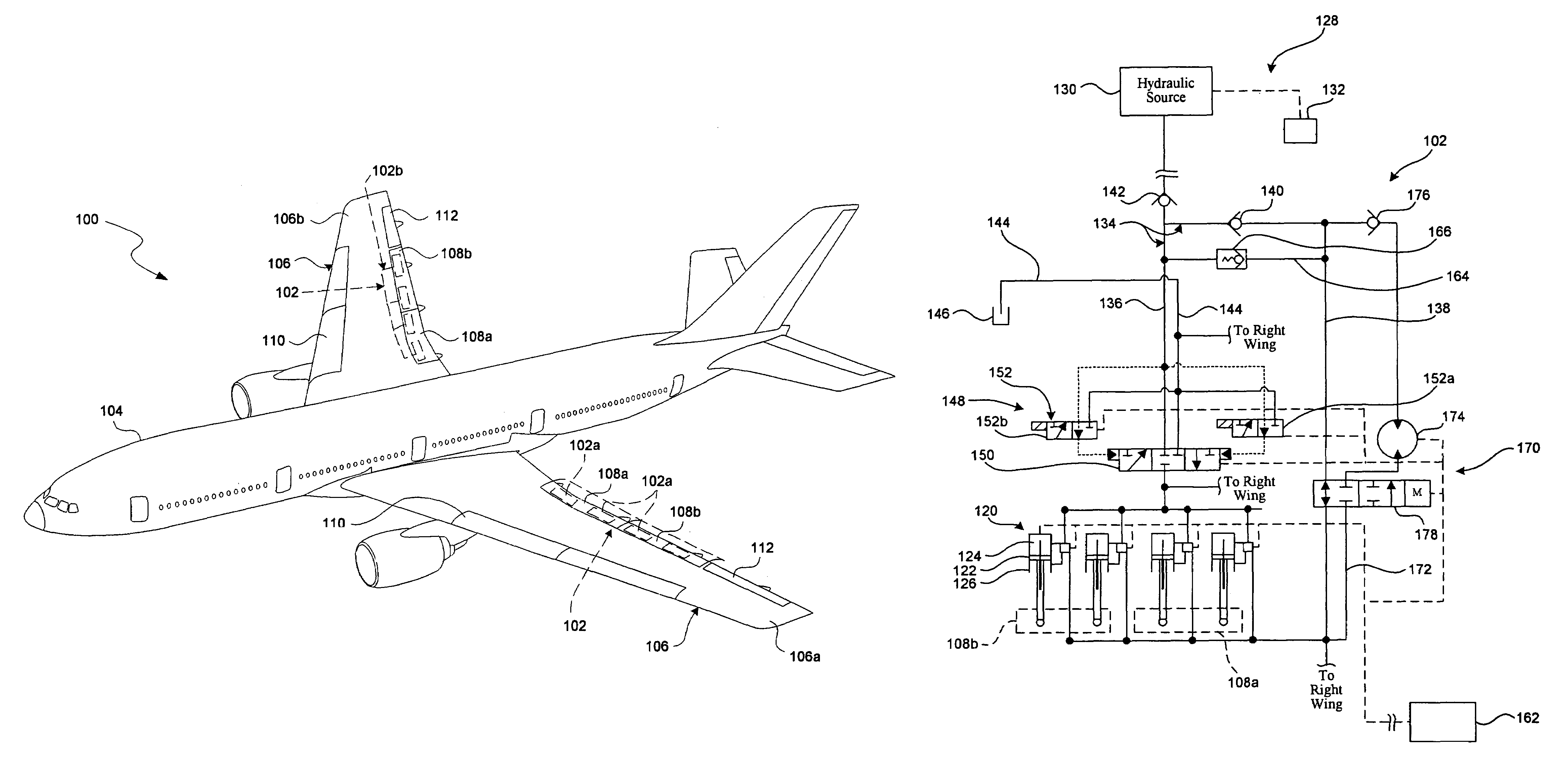 patent us7506842 aircraft control surface drive system and patent drawing