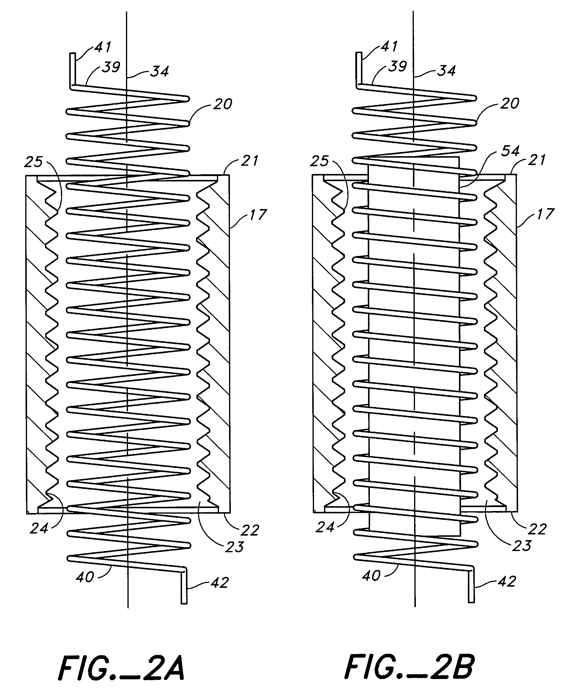 patent us7509778 - automatic take-up device with internal spring