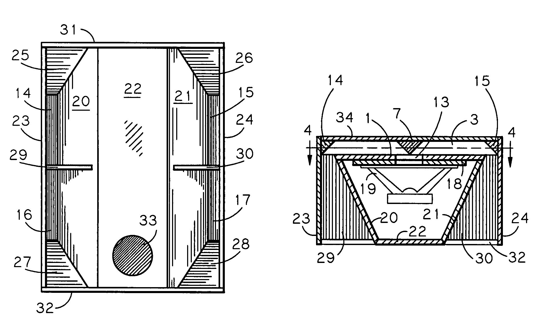 Patent US7520368 - Horizontally folded reflex-ported bass horn ...