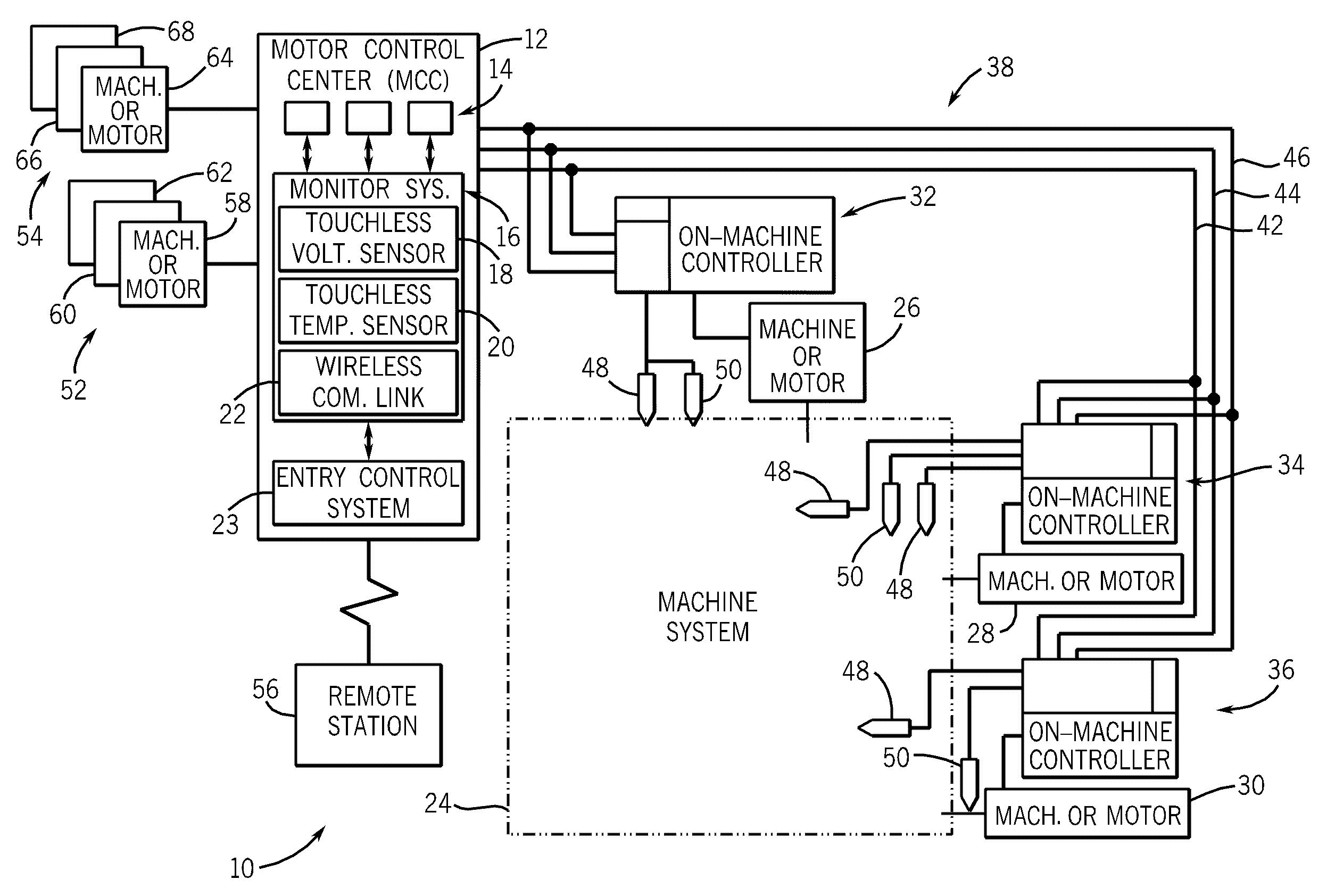 US07528612 20090505 D00000 patent us7528612 system and method for monitoring a motor broad ocean motor wiring diagram at readyjetset.co