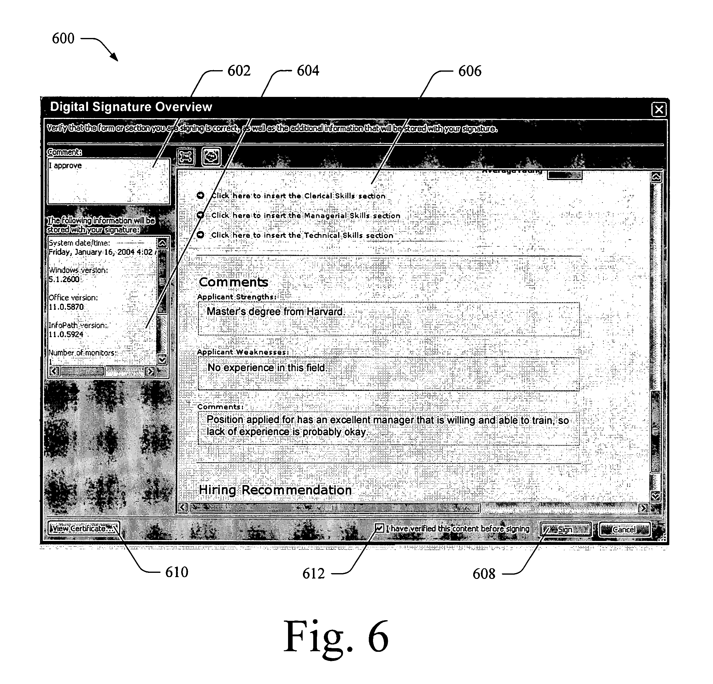 embedding digital signature in pdf