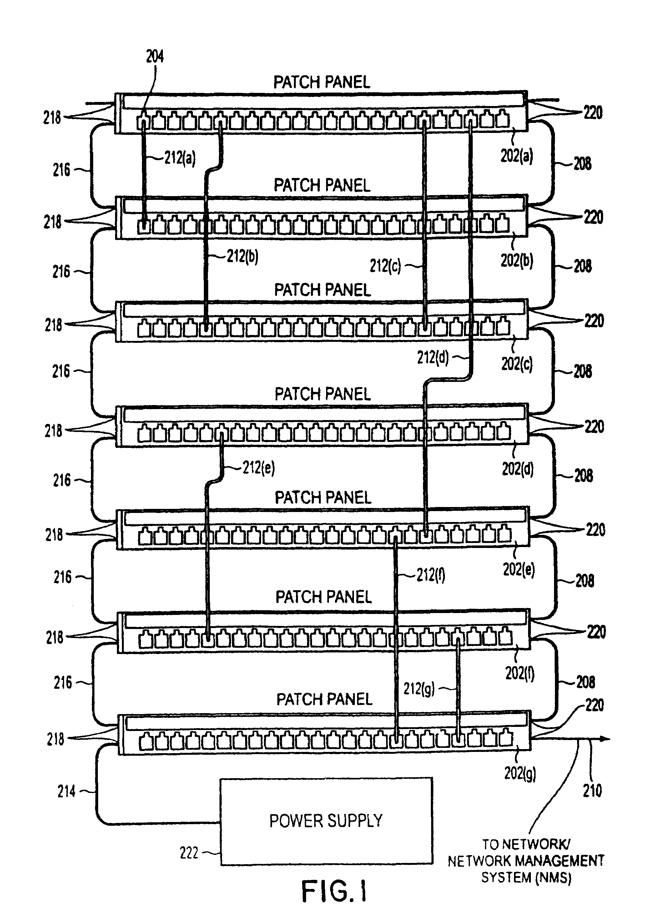 US07534137 20090519 D00001 patent us7534137 method and apparatus for patch panel patch cord ortronics patch panel wiring diagram at gsmportal.co
