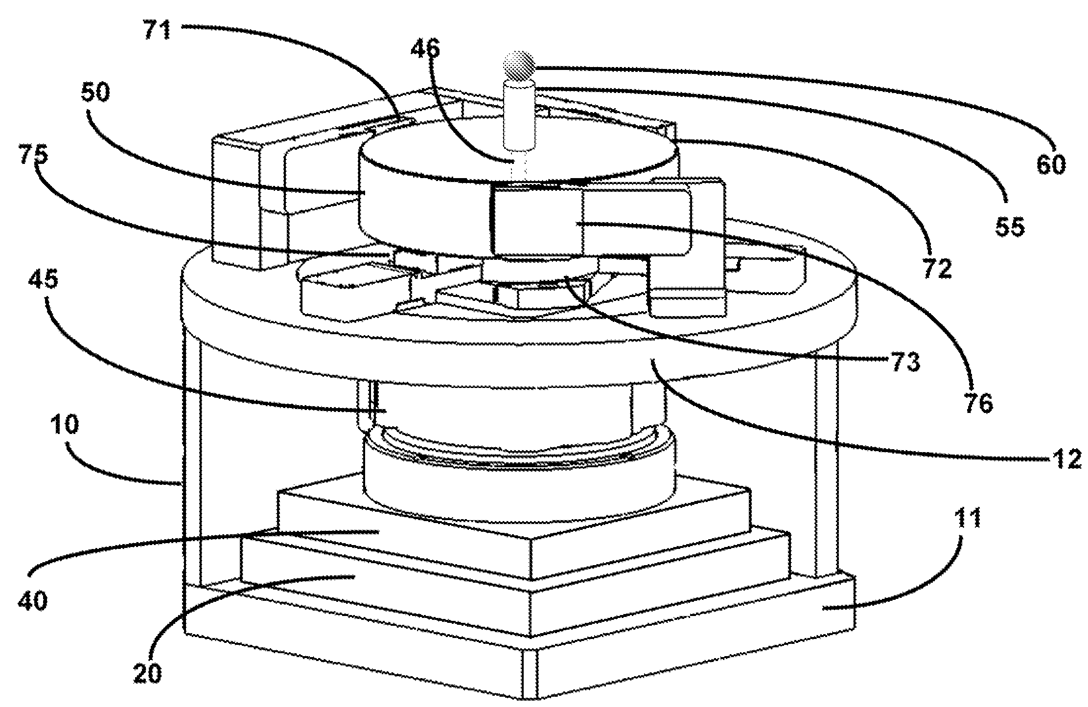 Patent Us7535193 Five Axis Compensated Rotating Stage