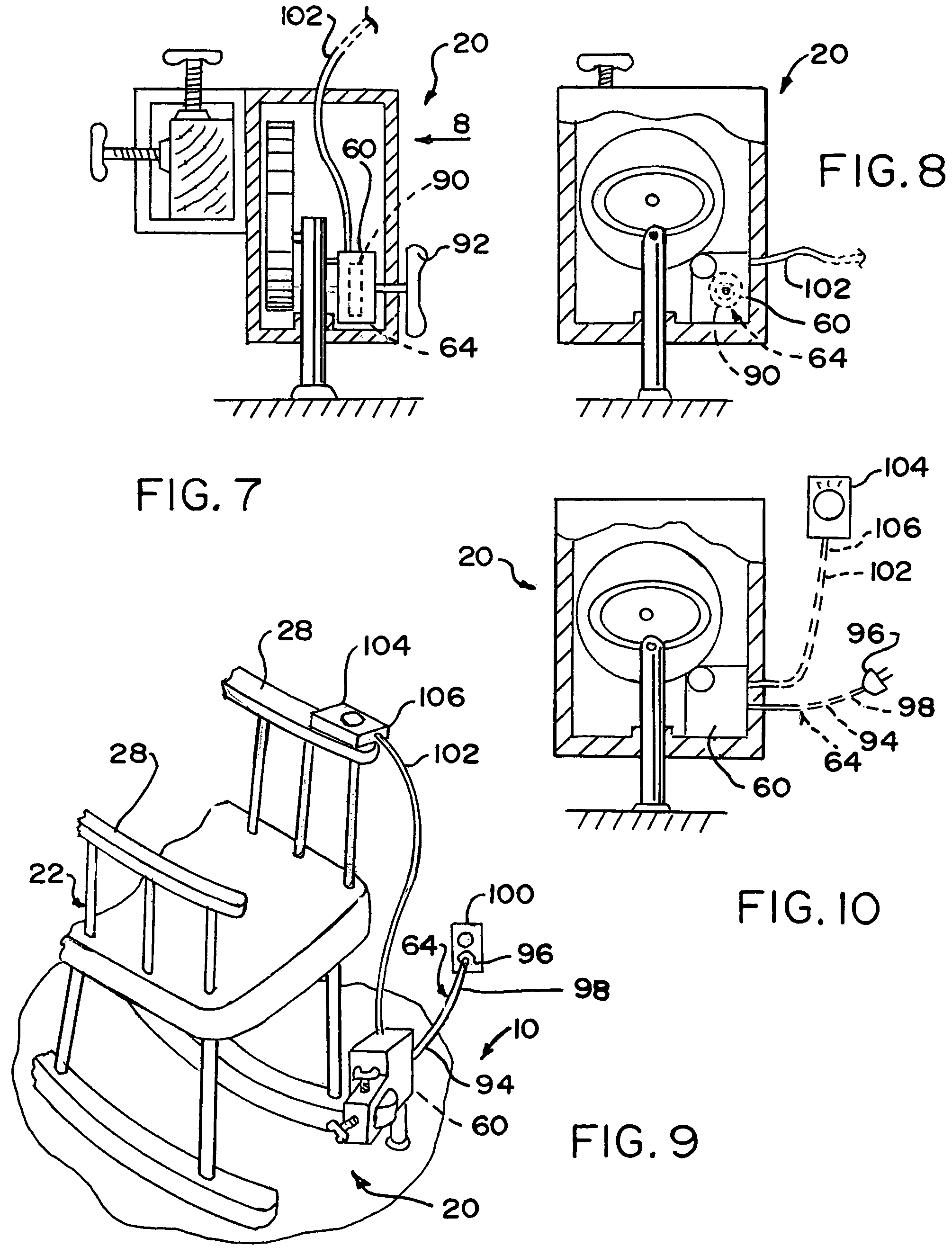 Patent US Device that automatically rocks a rocking a