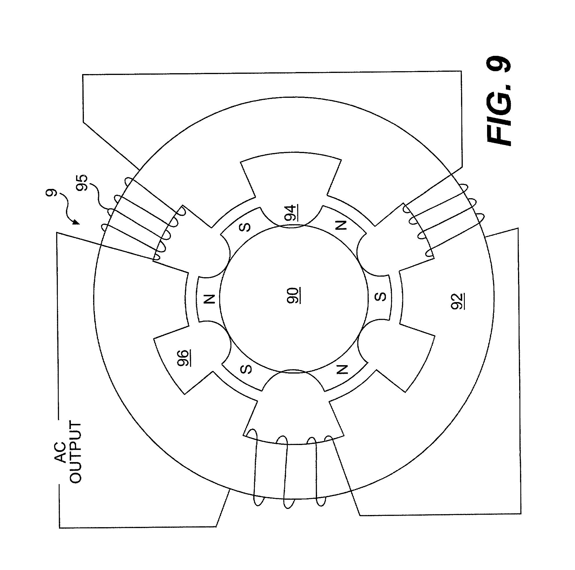 patent us7538524 - generators and transformers with toroidally wound stator winding