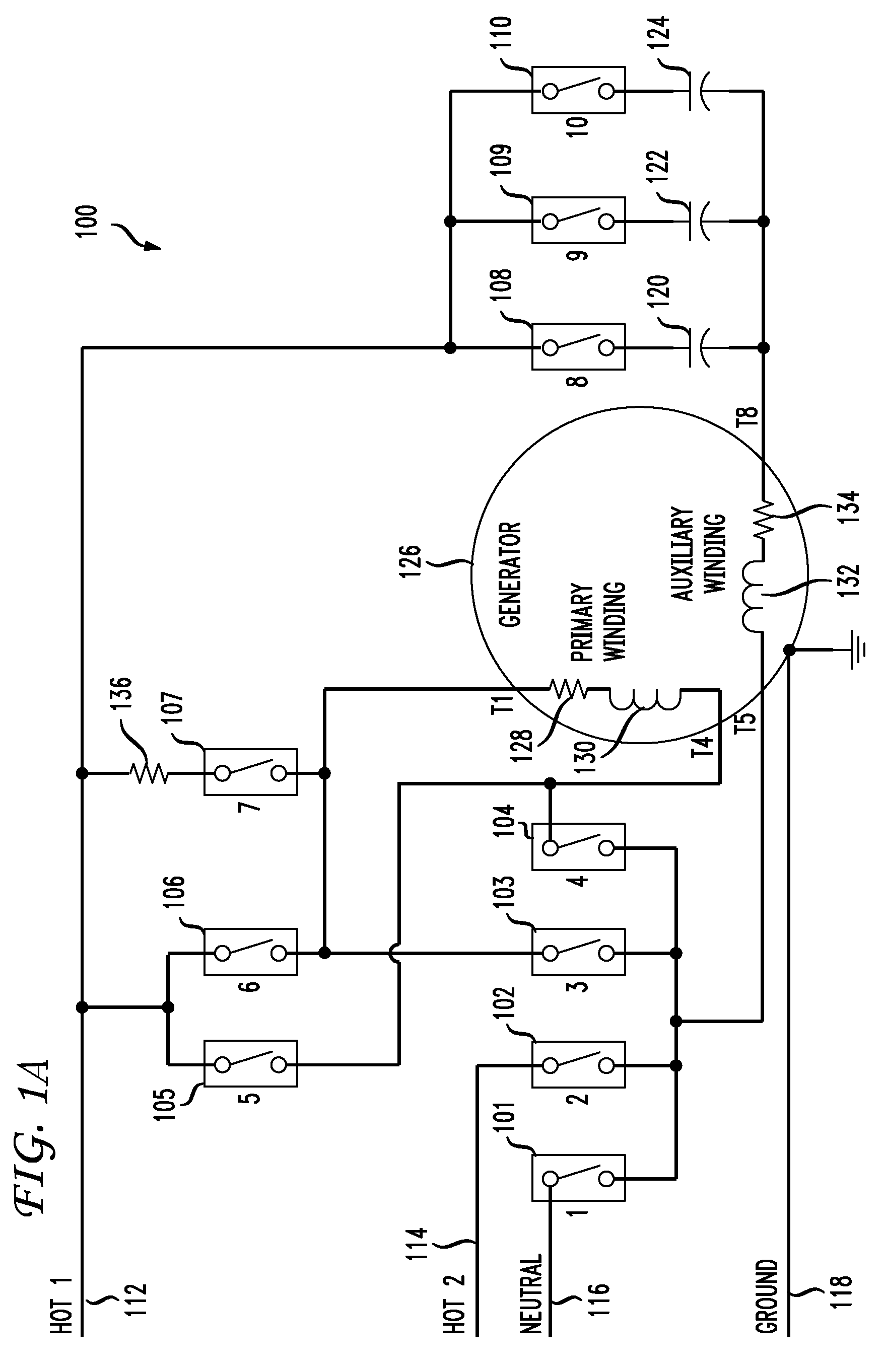 patent us7541784 dual voltage switching in power generation patent drawing
