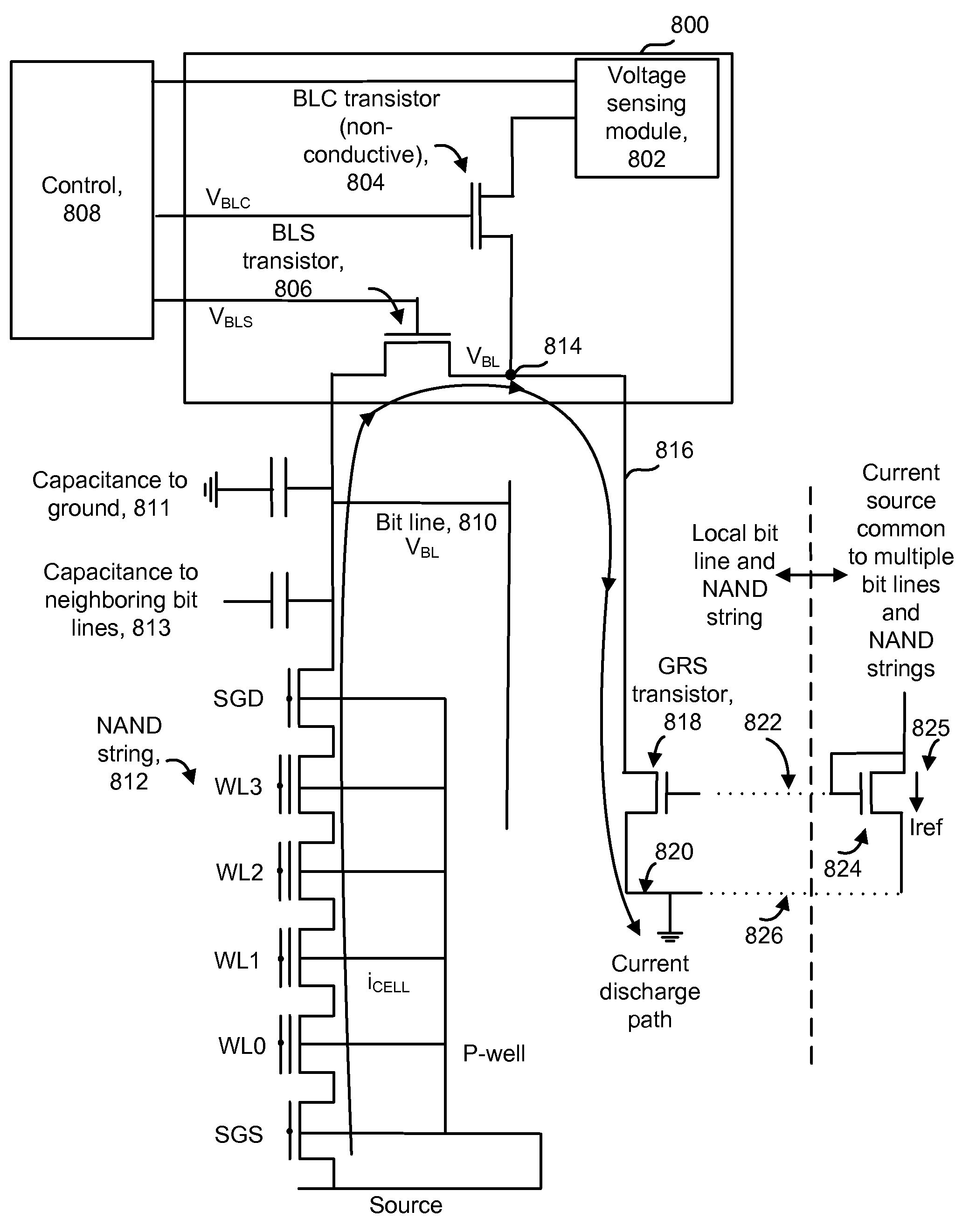 Patent Us7545678 Non Volatile Storage With Source Bias All Bit Transistor Current Drawing