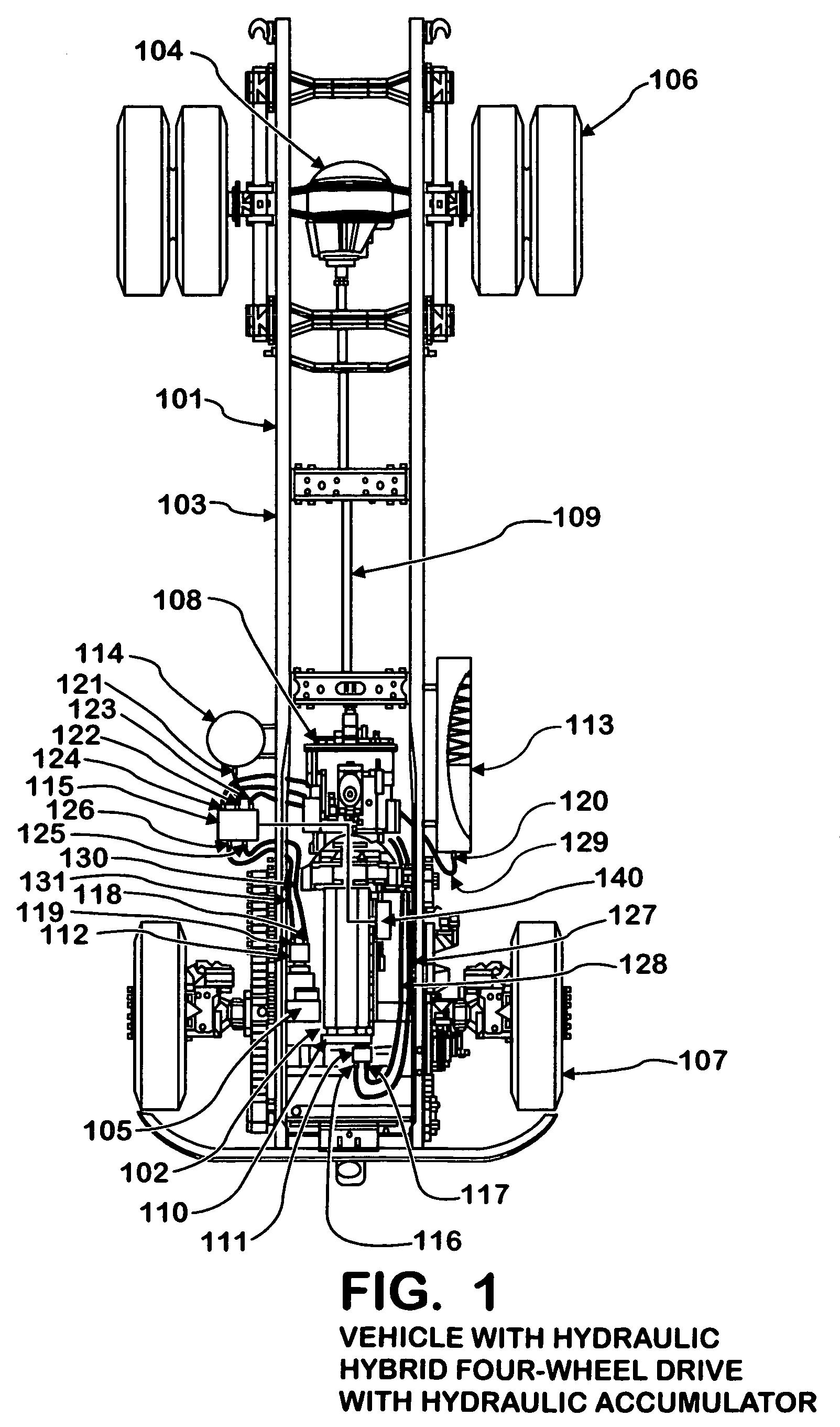 Hydraulic Wheel Drive System : Patent us hydraulic hybrid four wheel drive