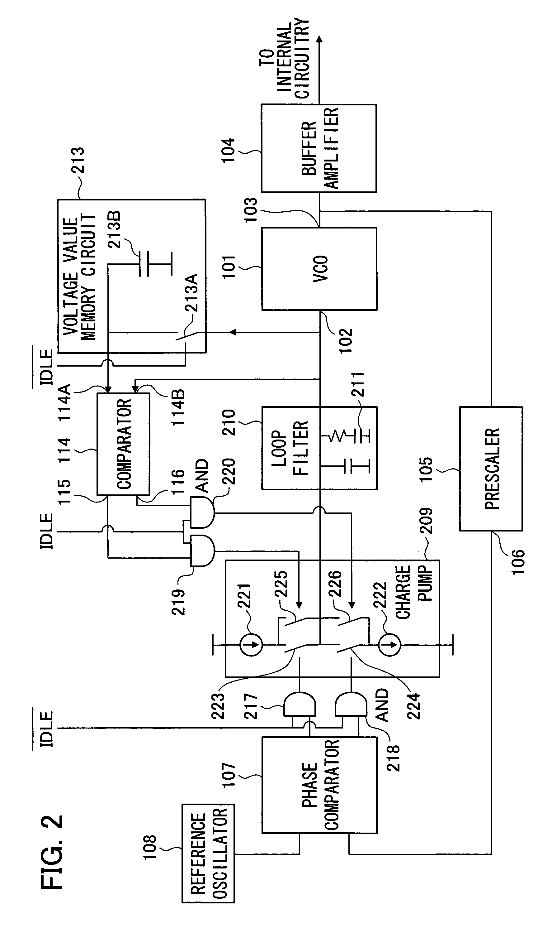 Brevet Us7551037 Pll Circuit Having Reduced Pull In Time Google Vco Diagram Patent Drawing