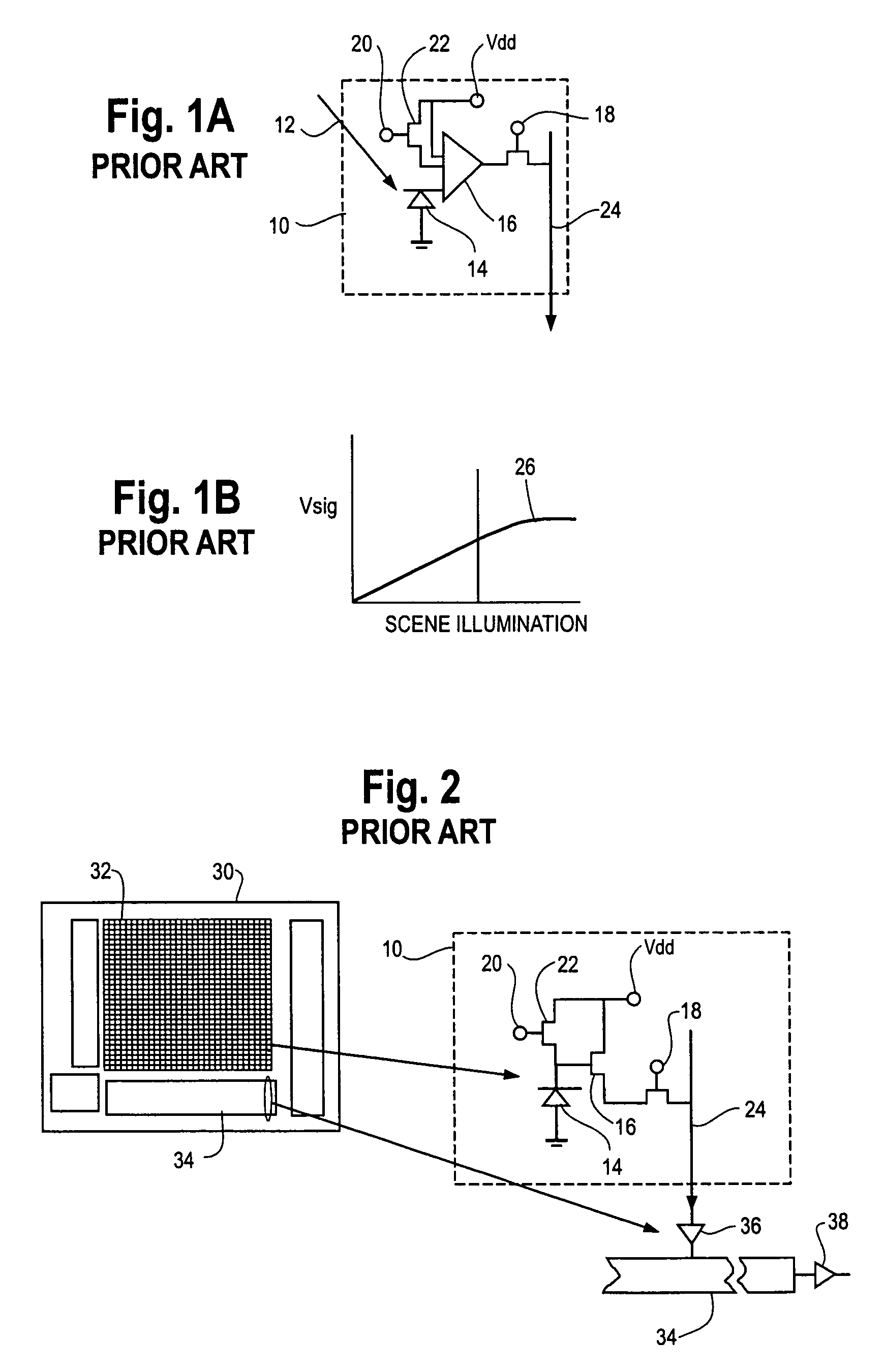 Brevet Us7551059 Hybrid Infrared Detector Array And Cmos Readout Photodiodes Signal Conditioning Ic Patent Drawing