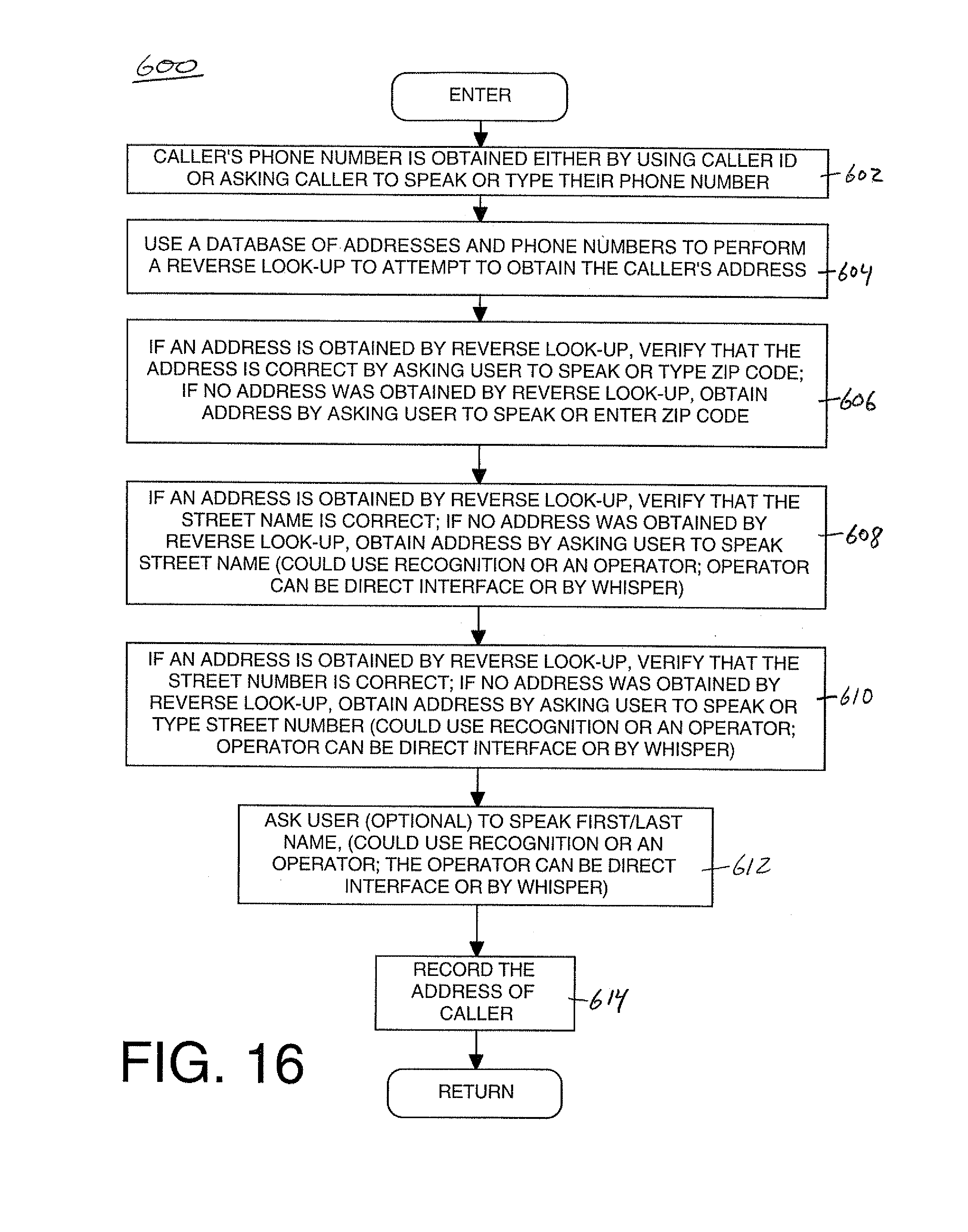 Patent US Providing Menu And Other Services For An - Us zip code type