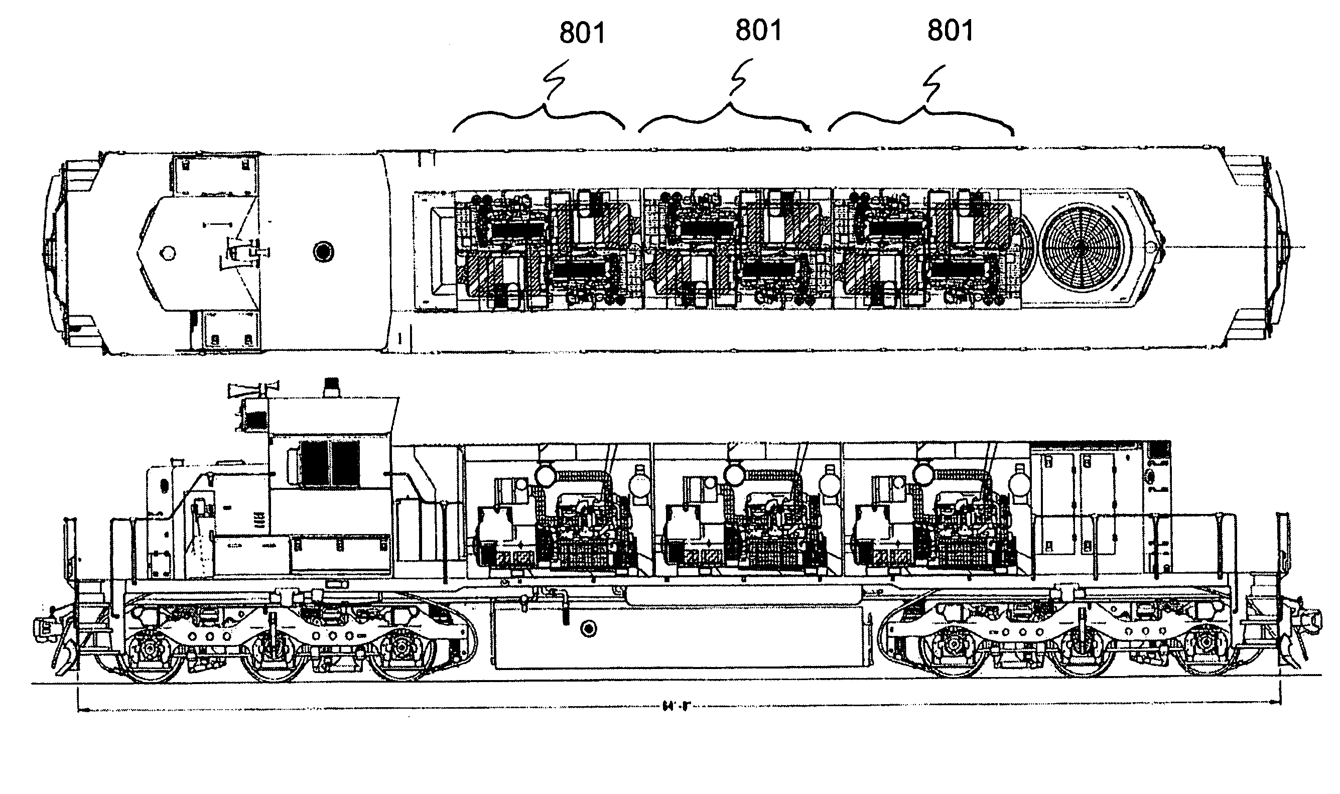 Patent US7565867 Multiple engine locomotive configuration – Locomotive Engine Diagram Simple