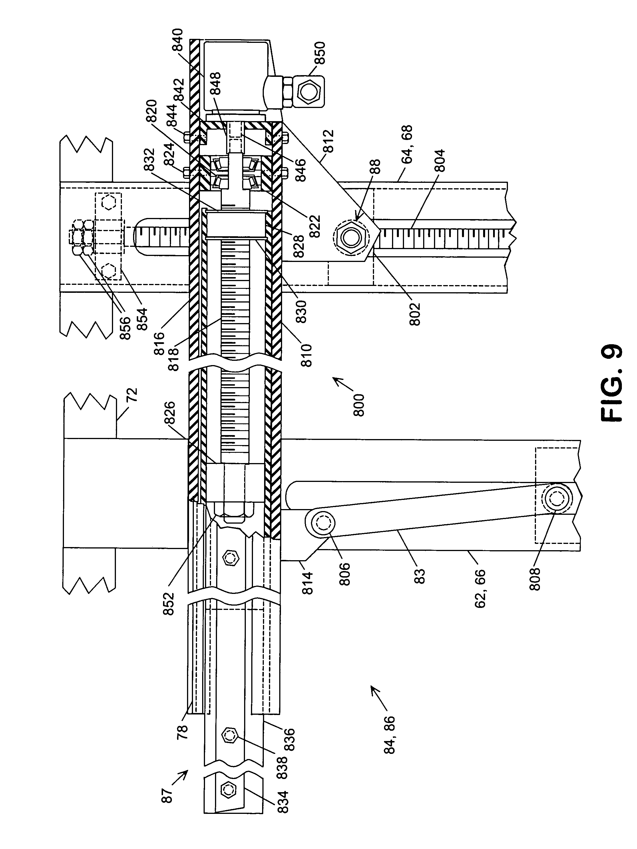 patent us7575402 vehicle transporter screw actuators patent drawing